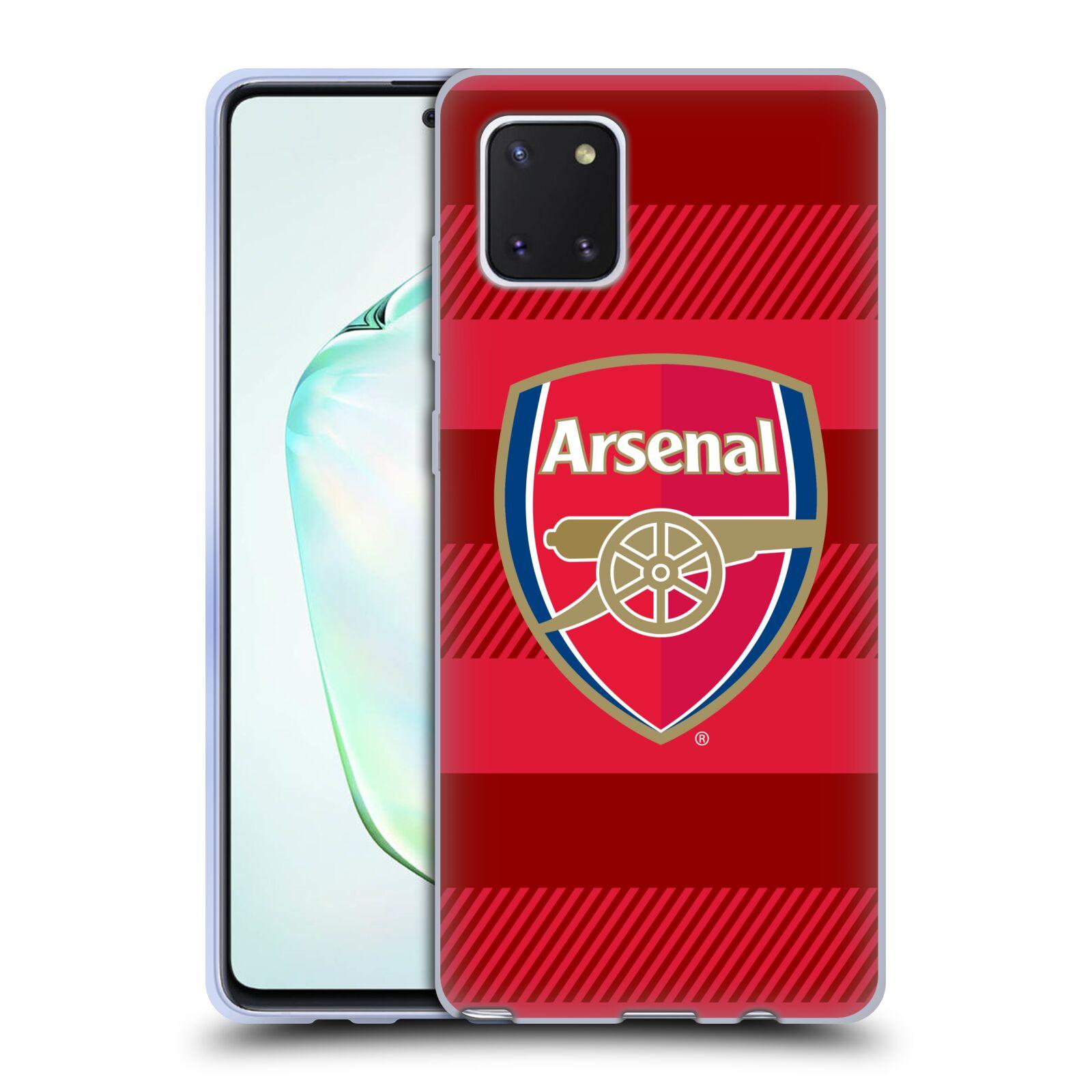 Silikonové pouzdro na mobil Samsung Galaxy Note 10 Lite - Head Case - Arsenal FC - Logo s pruhy