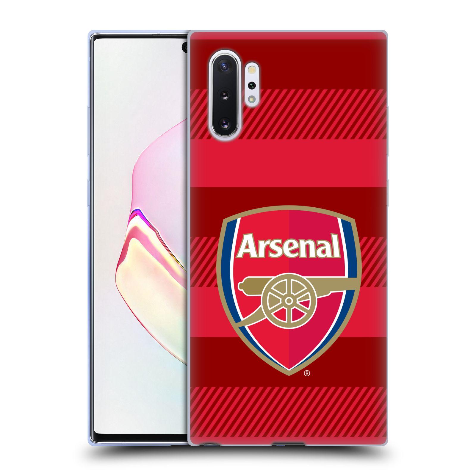 Silikonové pouzdro na mobil Samsung Galaxy Note 10 Plus - Head Case - Arsenal FC - Logo s pruhy