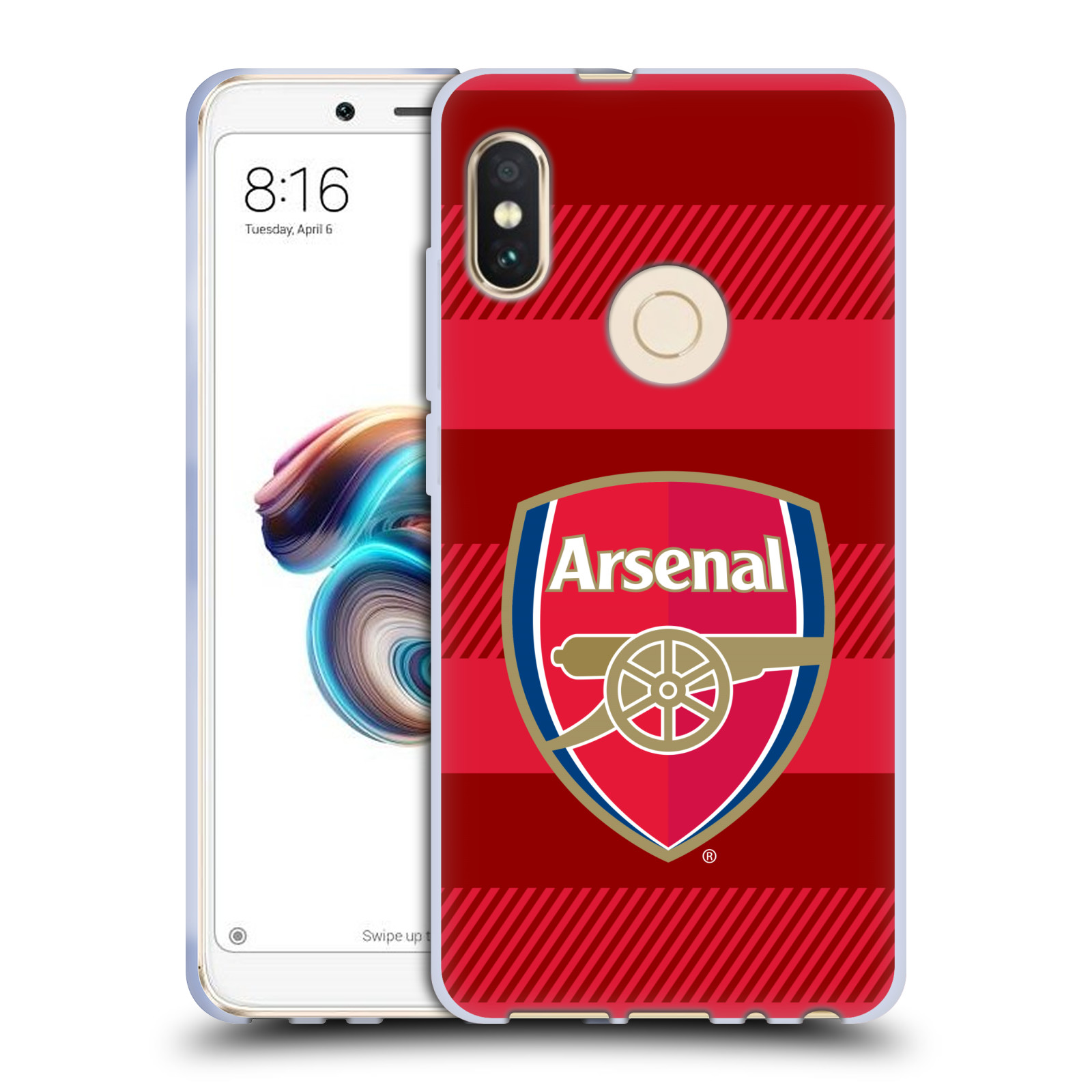Silikonové pouzdro na mobil Xiaomi Redmi Note 5 - Head Case - Arsenal FC - Logo s pruhy