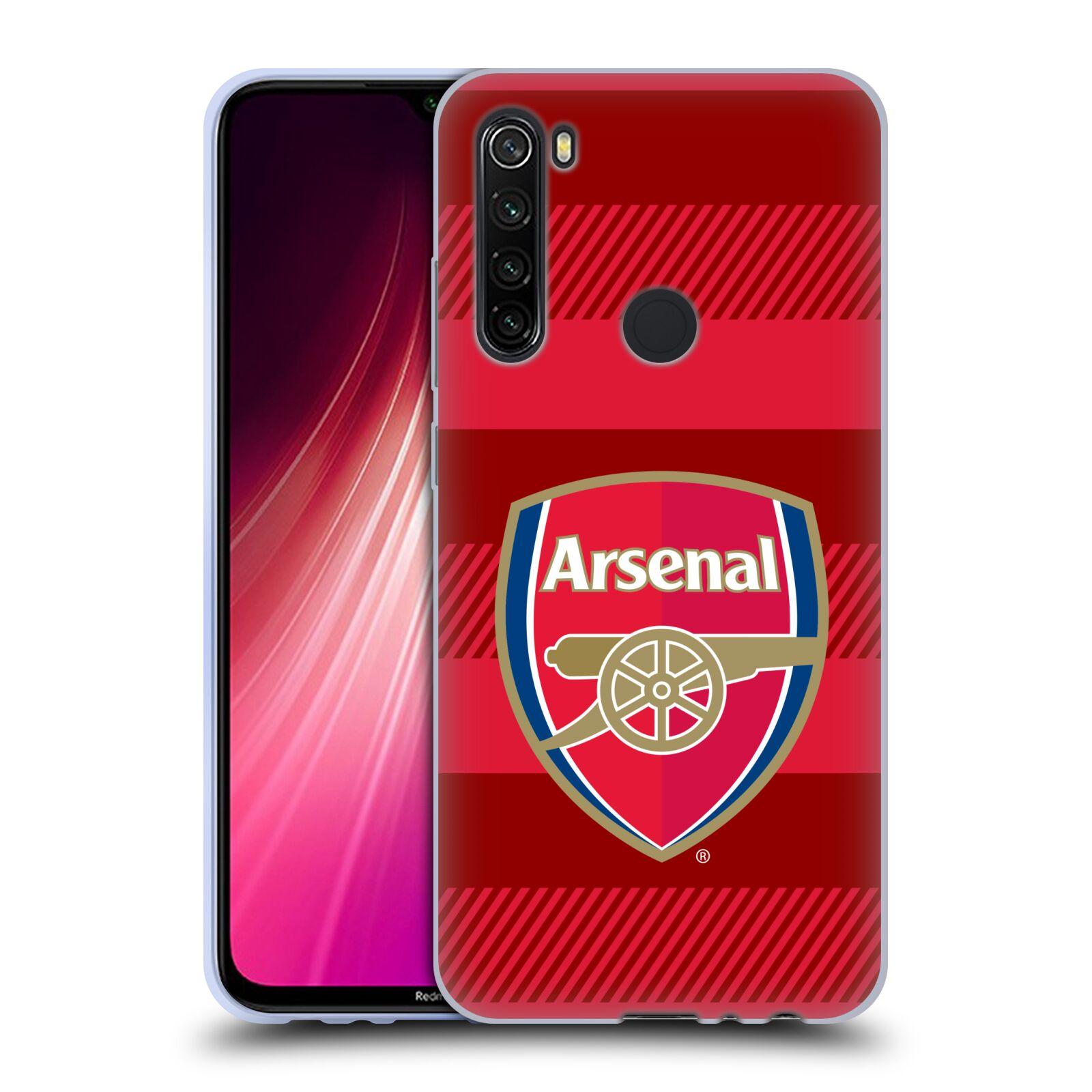 Silikonové pouzdro na mobil Xiaomi Redmi Note 8T - Head Case - Arsenal FC - Logo s pruhy