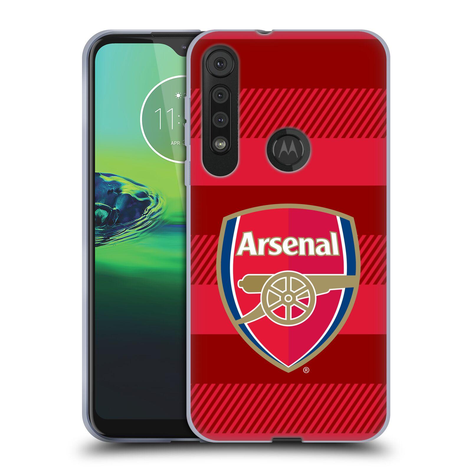Silikonové pouzdro na mobil Motorola One Macro - Head Case - Arsenal FC - Logo s pruhy