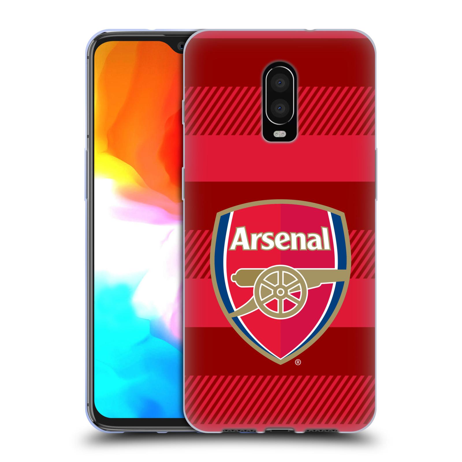 Silikonové pouzdro na mobil OnePlus 6T - Head Case - Arsenal FC - Logo s pruhy