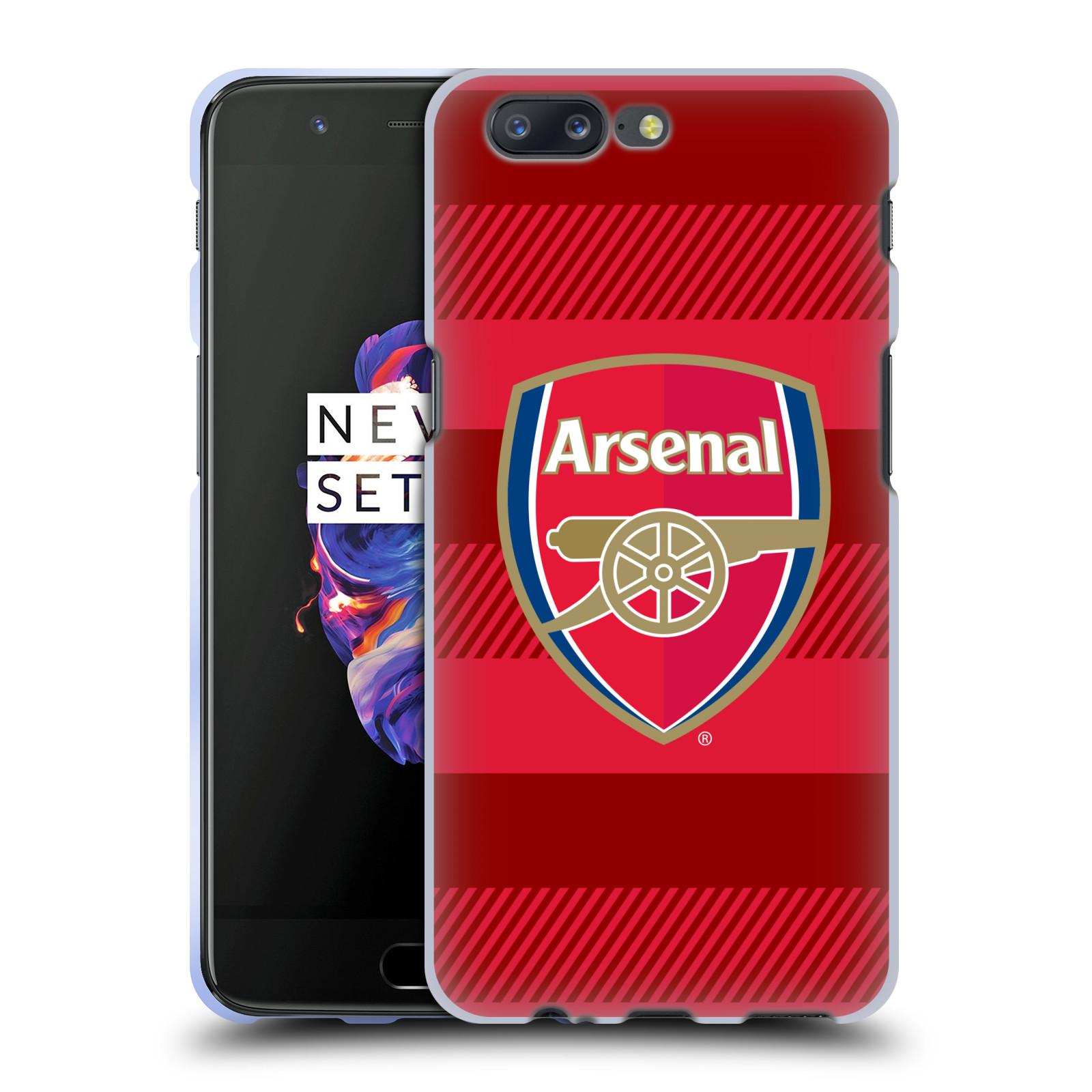 Silikonové pouzdro na mobil OnePlus 5 - Head Case - Arsenal FC - Logo s pruhy
