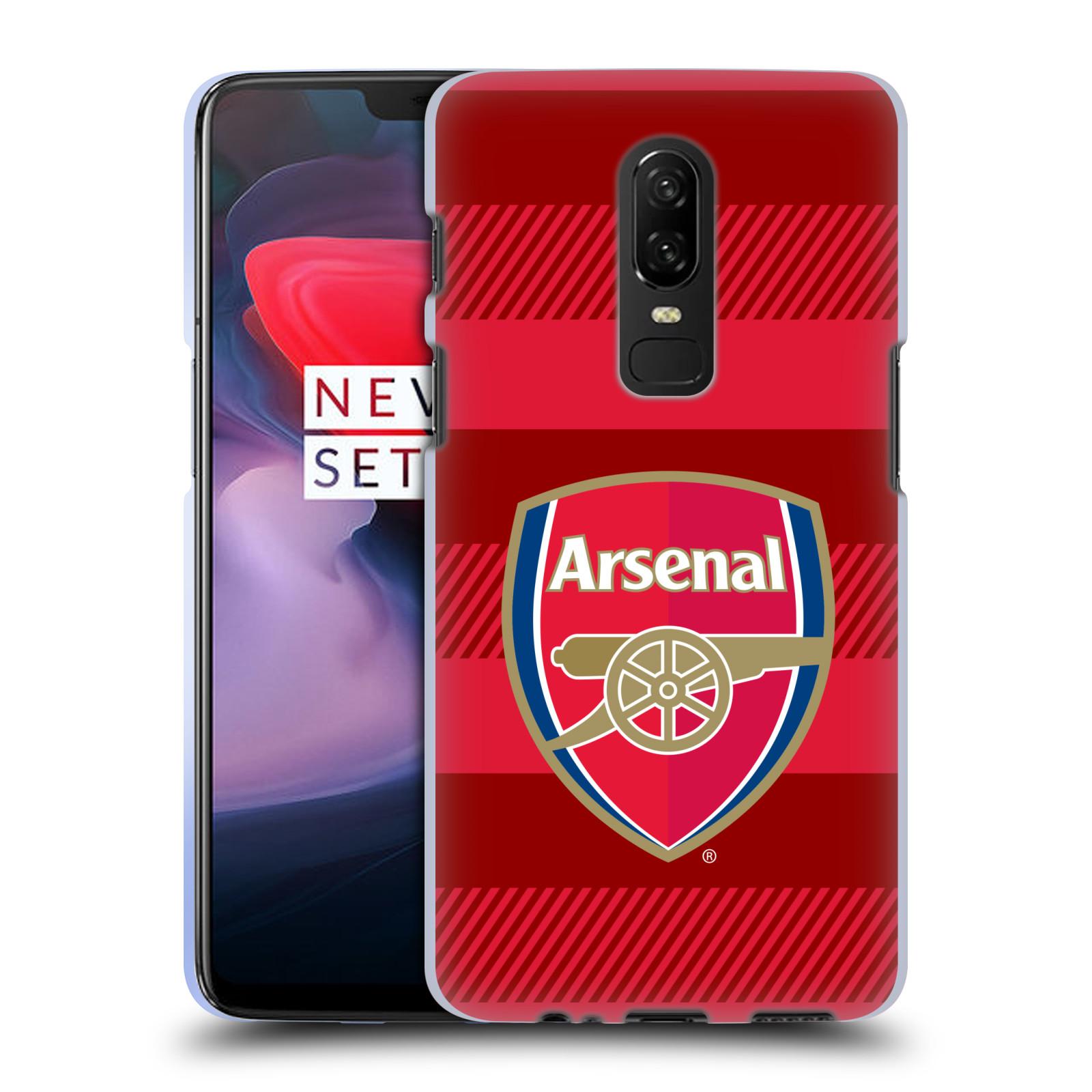 Silikonové pouzdro na mobil OnePlus 6 - Head Case - Arsenal FC - Logo s pruhy