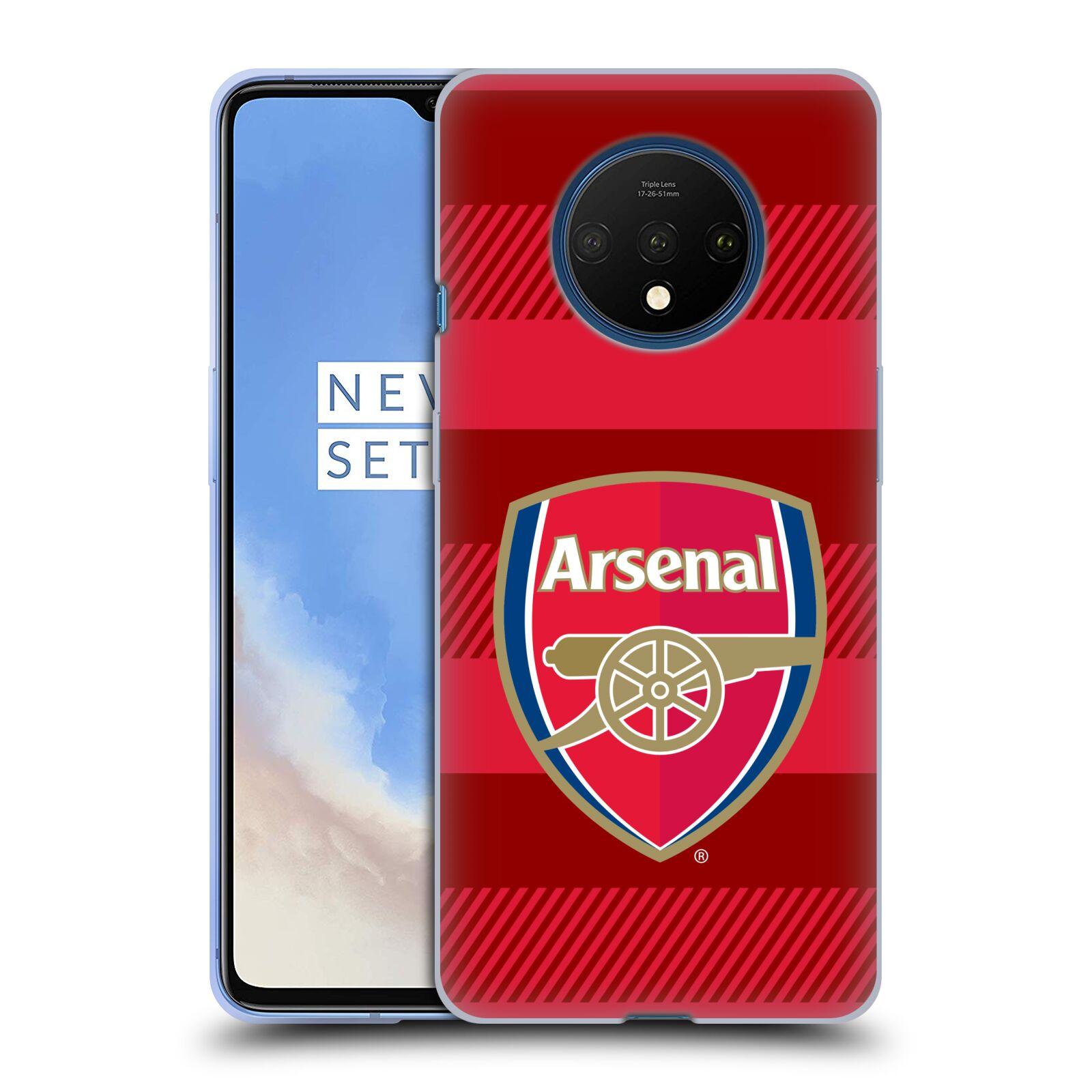 Silikonové pouzdro na mobil OnePlus 7T - Head Case - Arsenal FC - Logo s pruhy
