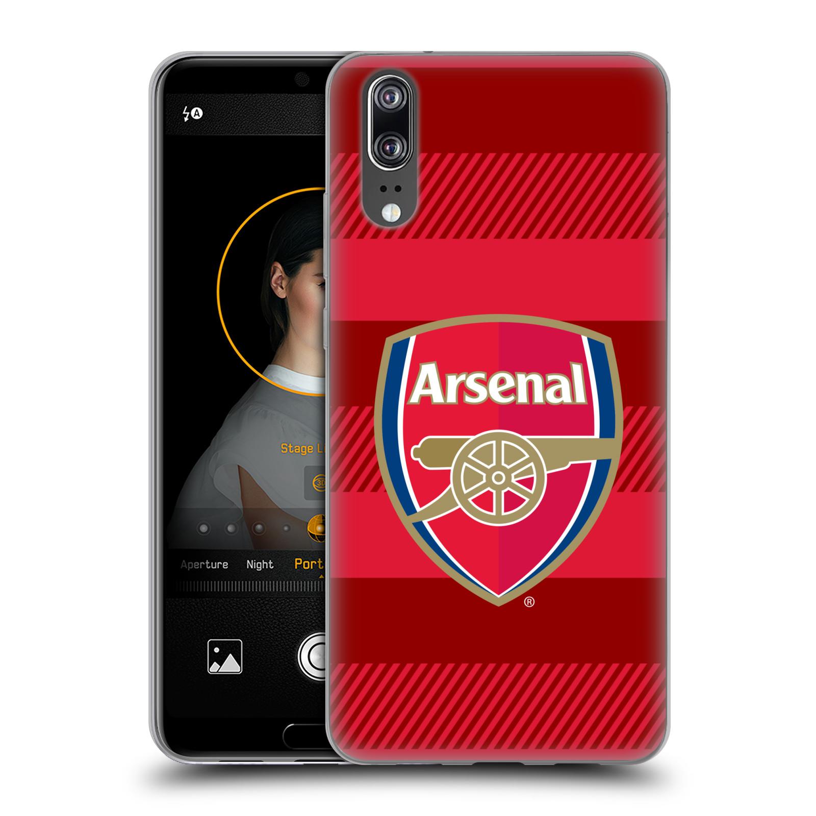 Silikonové pouzdro na mobil Huawei P20 - Head Case - Arsenal FC - Logo s pruhy