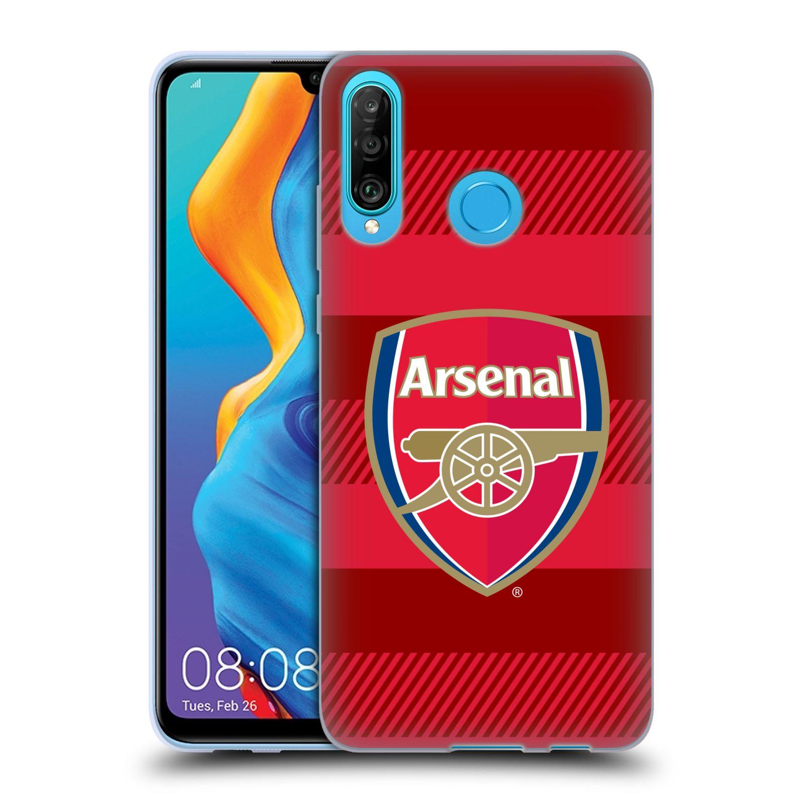 Silikonové pouzdro na mobil Huawei P30 Lite - Head Case - Arsenal FC - Logo s pruhy