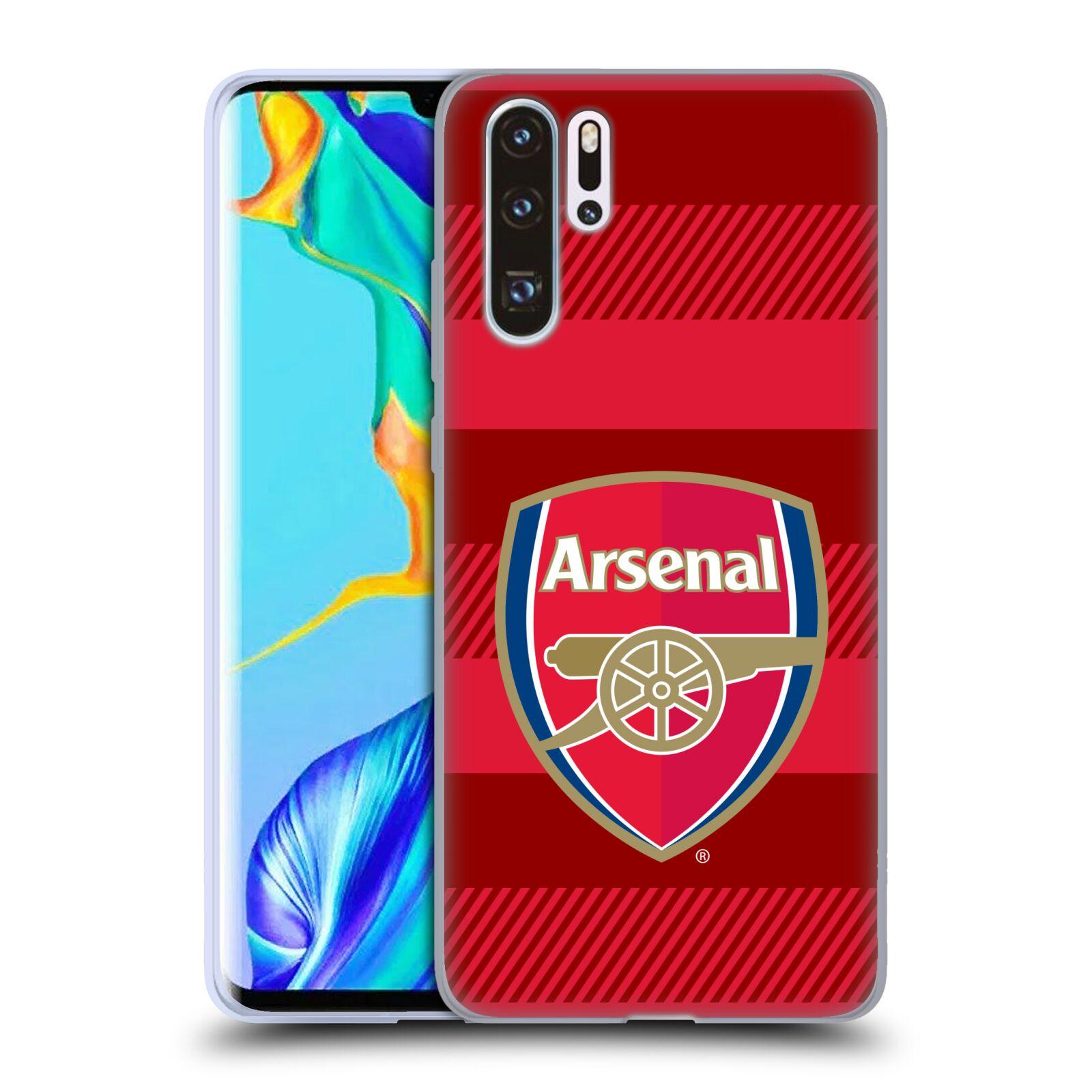 Silikonové pouzdro na mobil Huawei P30 Pro - Head Case - Arsenal FC - Logo s pruhy