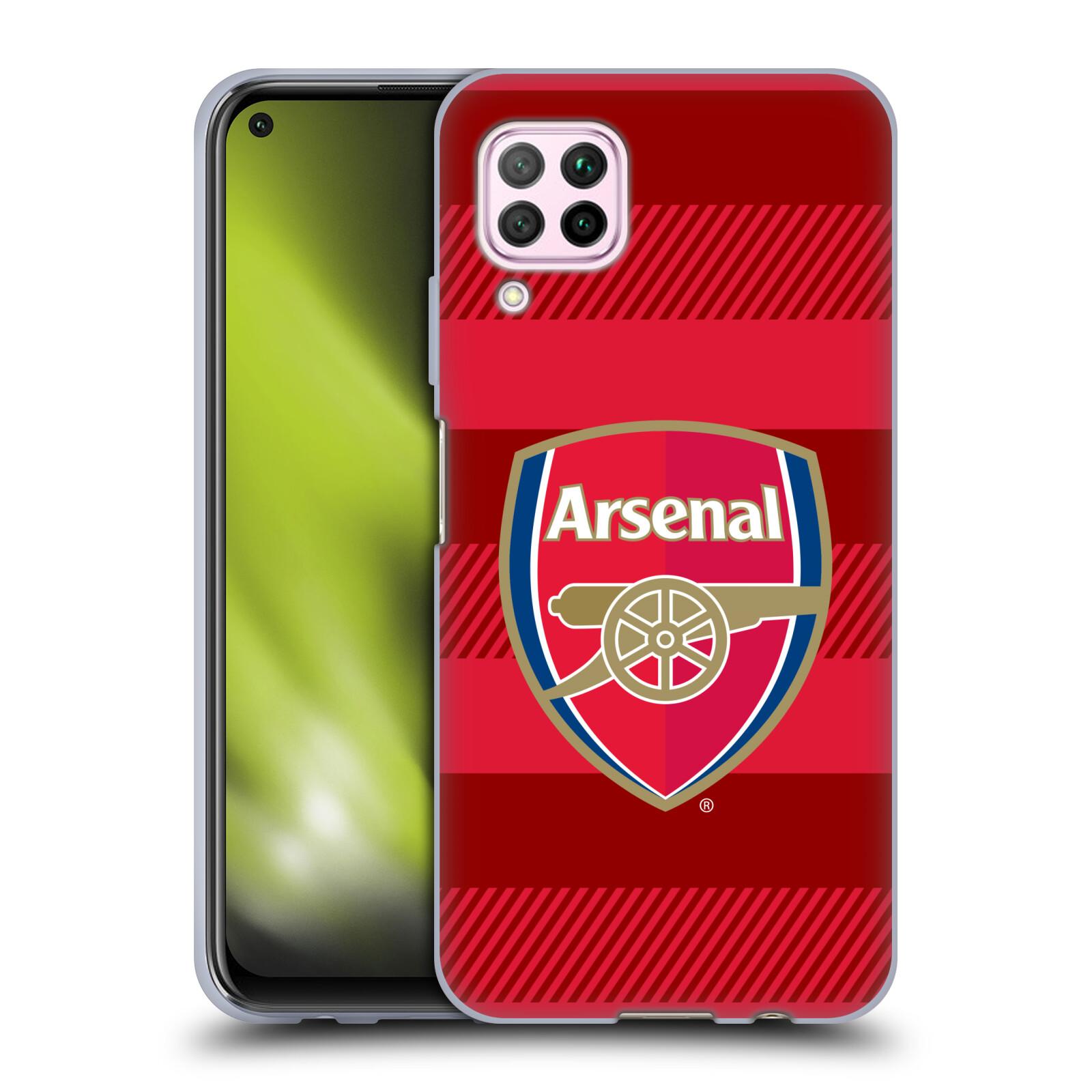 Silikonové pouzdro na mobil Huawei P40 Lite - Head Case - Arsenal FC - Logo s pruhy