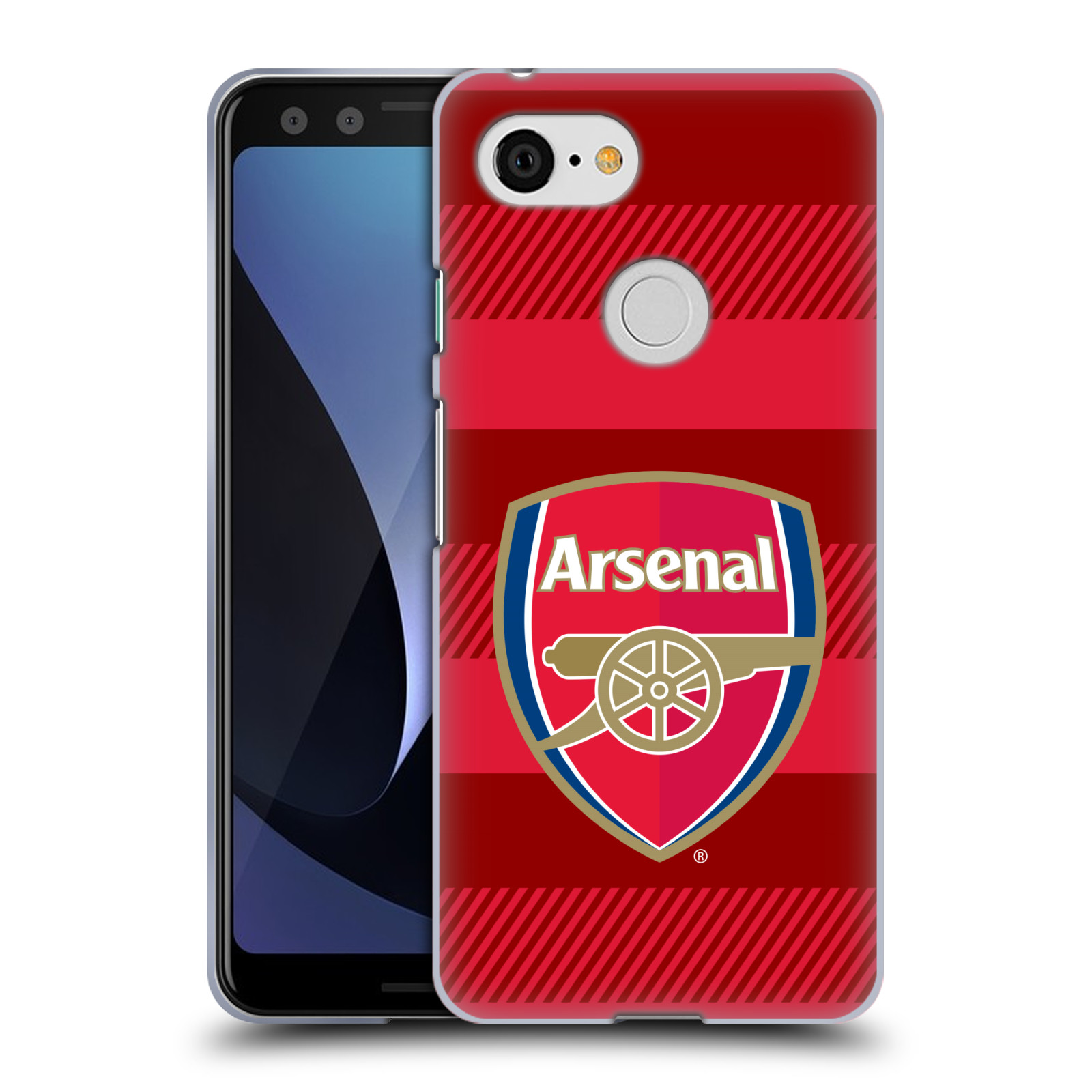 Silikonové pouzdro na mobil Google Pixel 3 - Head Case - Arsenal FC - Logo s pruhy