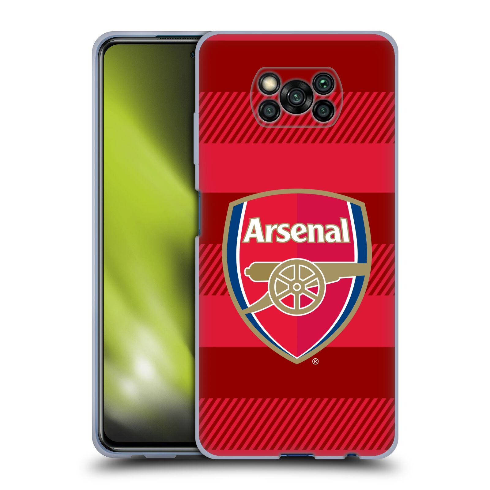 Silikonové pouzdro na mobil Xiaomi Poco X3 NFC - Head Case - Arsenal FC - Logo s pruhy