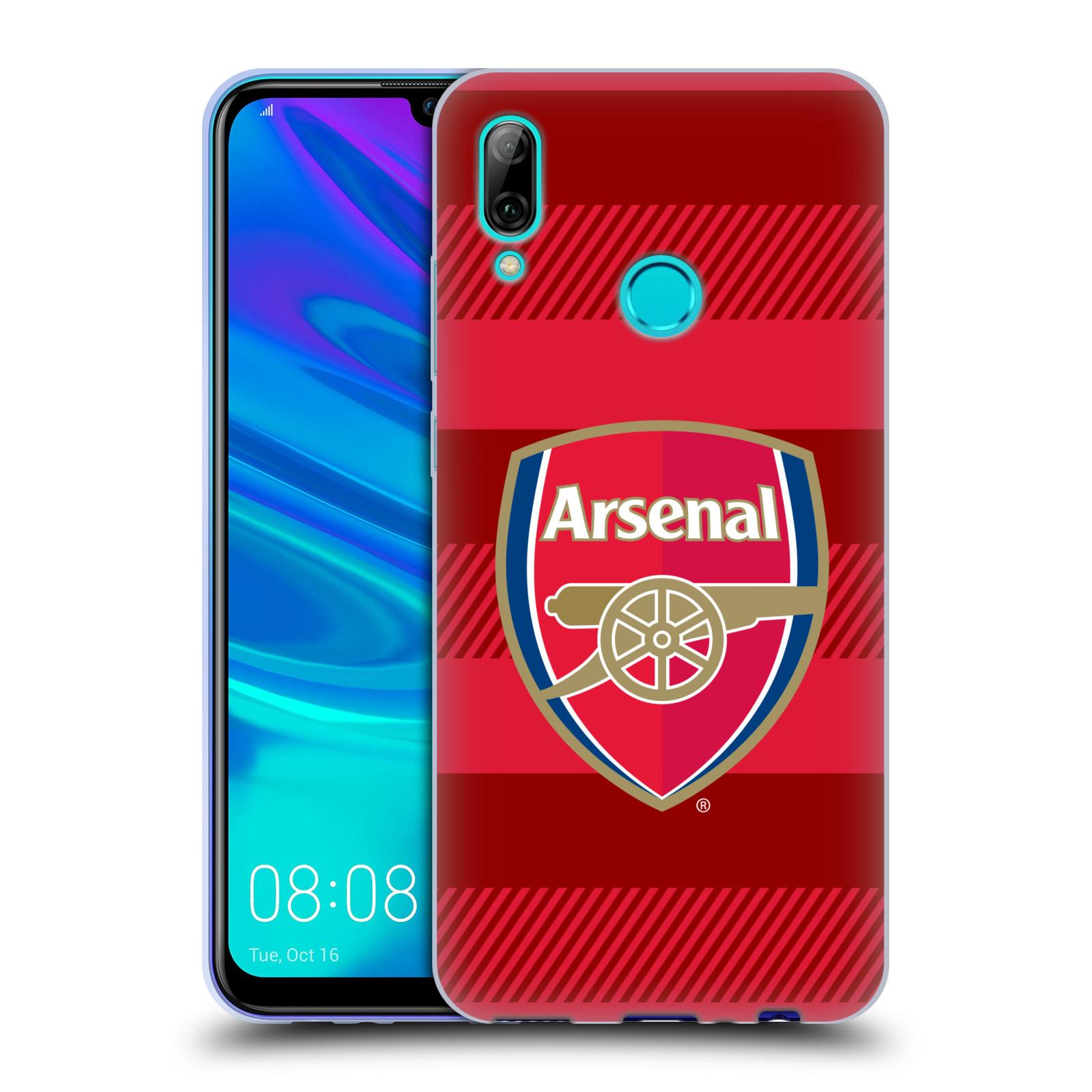 Silikonové pouzdro na mobil Huawei P Smart (2019) - Head Case - Arsenal FC - Logo s pruhy