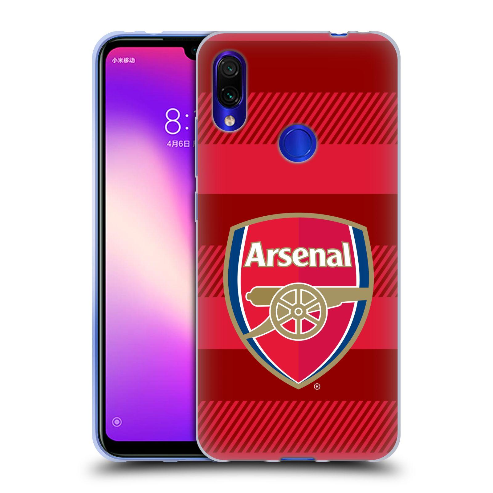 Silikonové pouzdro na mobil Xiaomi Redmi Note 7 - Head Case - Arsenal FC - Logo s pruhy