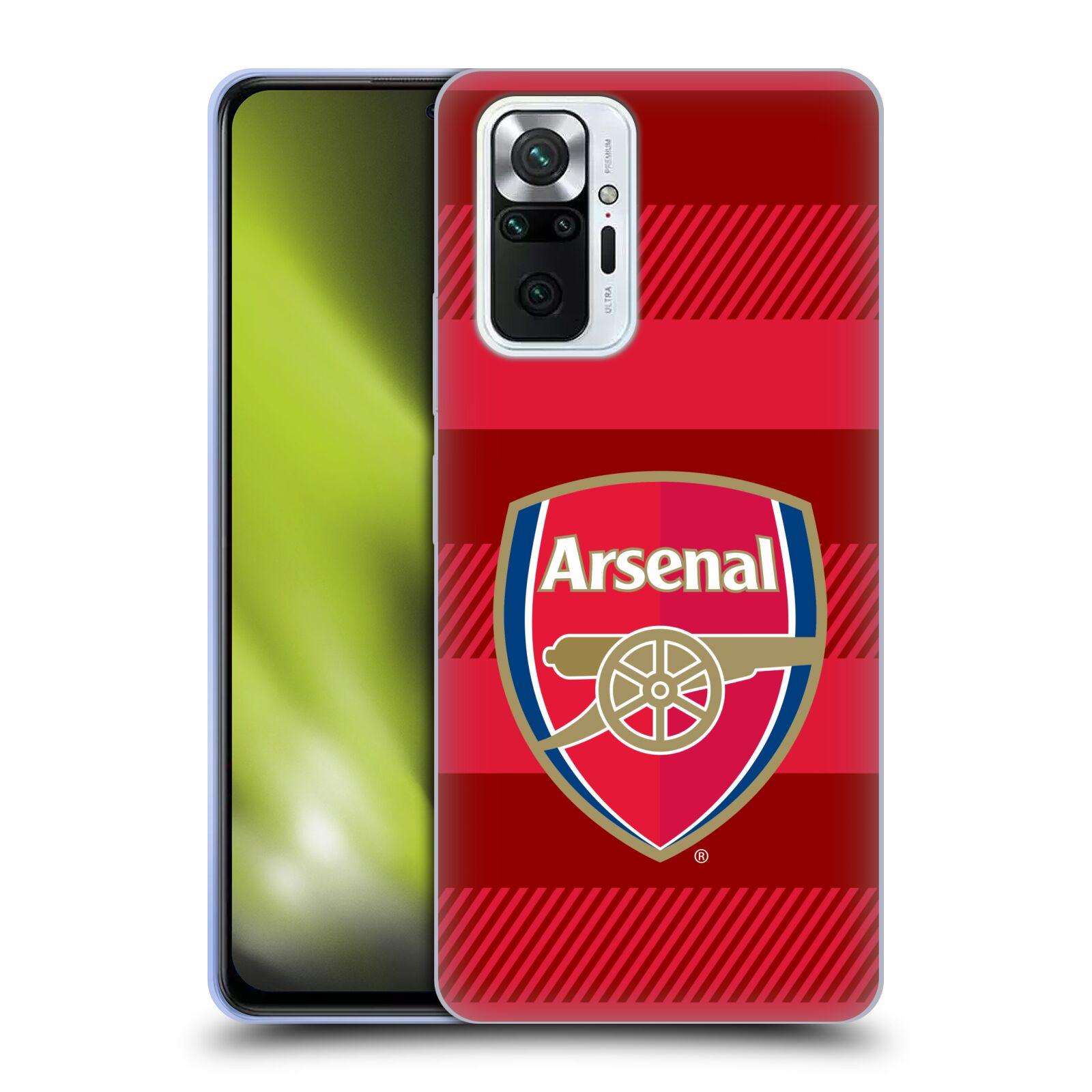 Silikonové pouzdro na mobil Xiaomi Redmi Note 10 Pro - Head Case - Arsenal FC - Logo s pruhy
