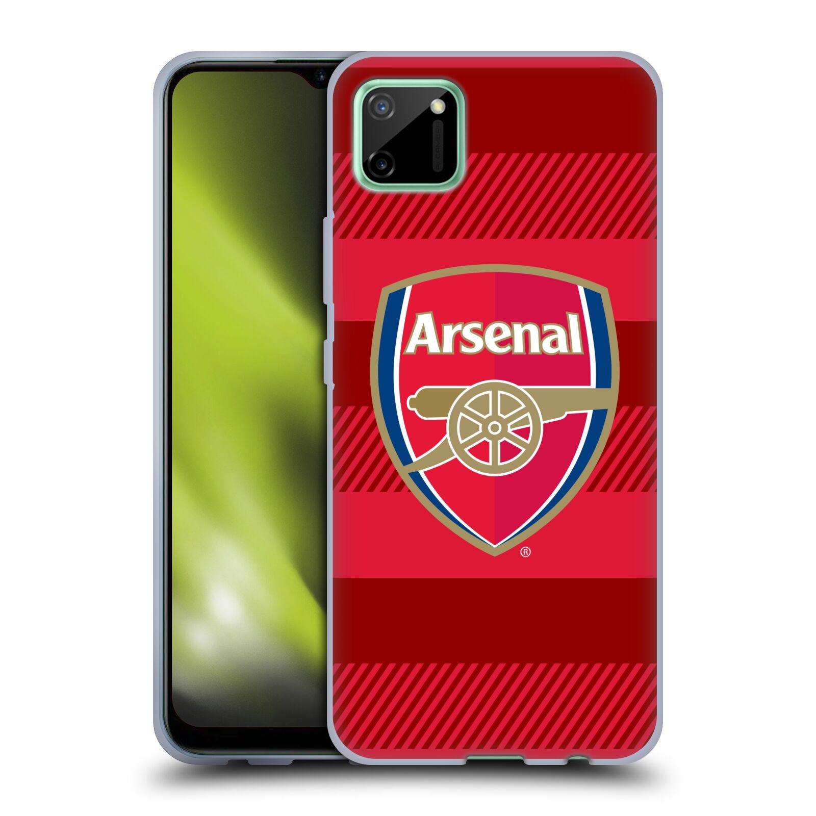 Silikonové pouzdro na mobil Realme C11 - Head Case - Arsenal FC - Logo s pruhy