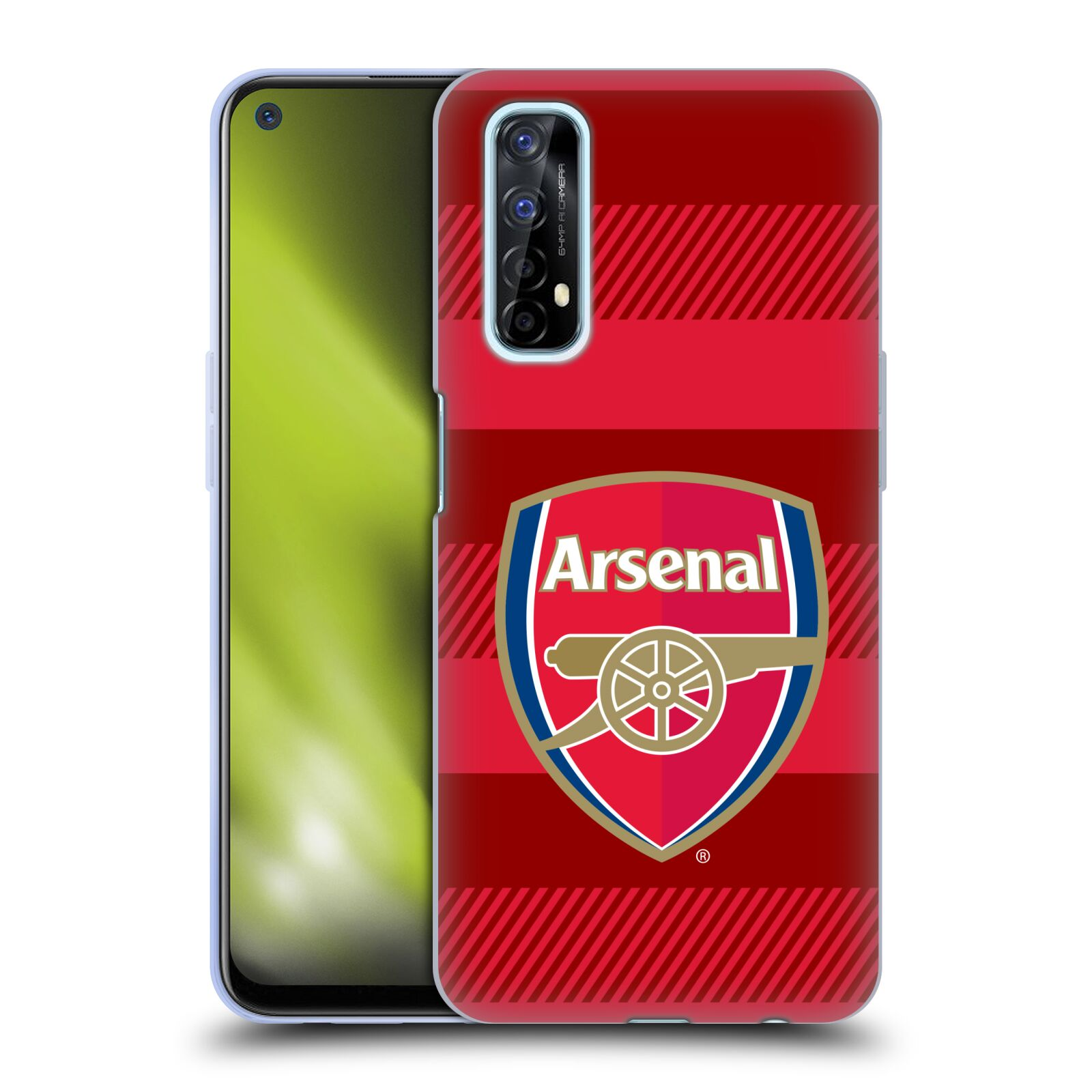 Silikonové pouzdro na mobil Realme 7 - Head Case - Arsenal FC - Logo s pruhy