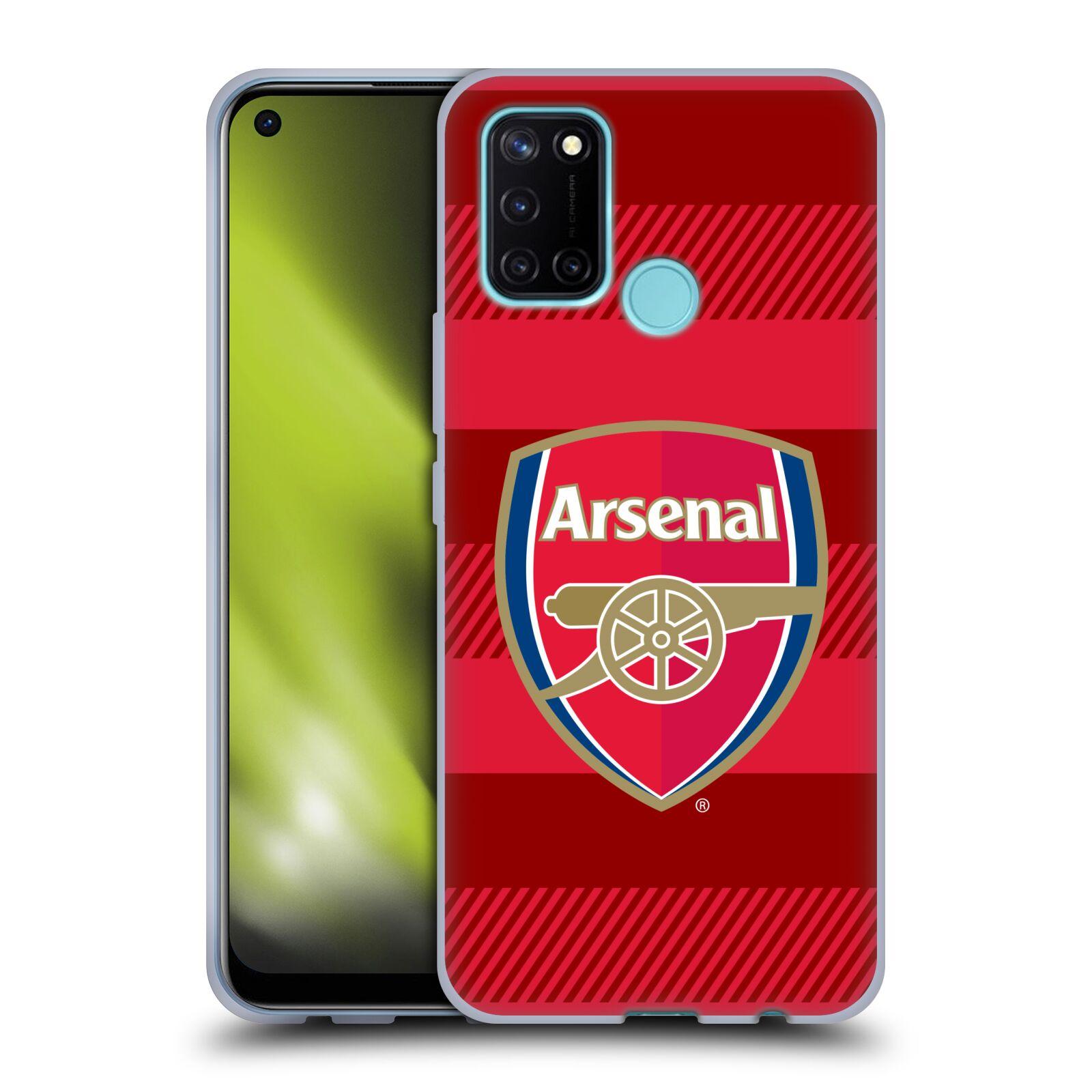 Silikonové pouzdro na mobil Realme 7i - Head Case - Arsenal FC - Logo s pruhy