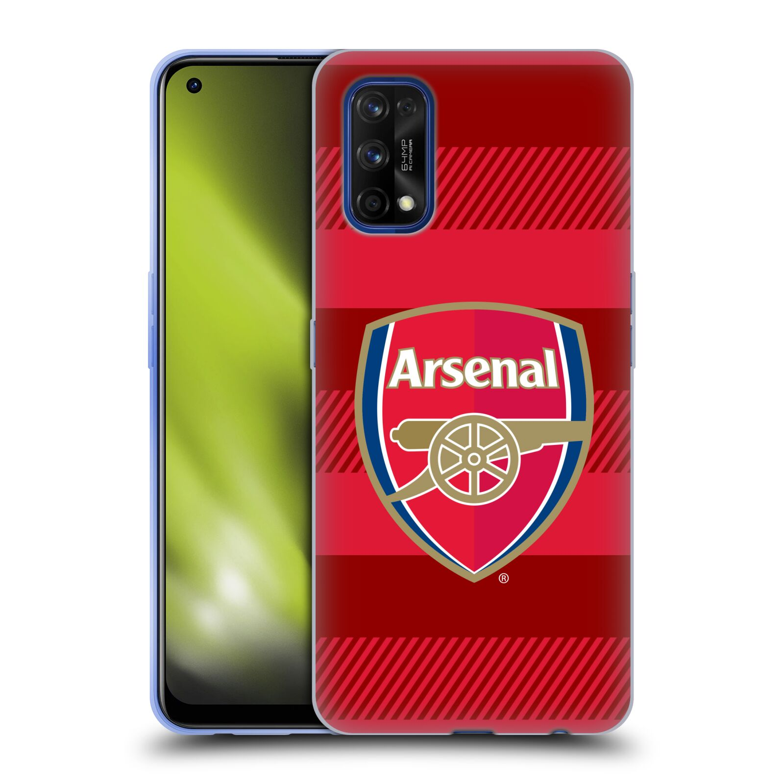 Silikonové pouzdro na mobil Realme 7 Pro - Head Case - Arsenal FC - Logo s pruhy