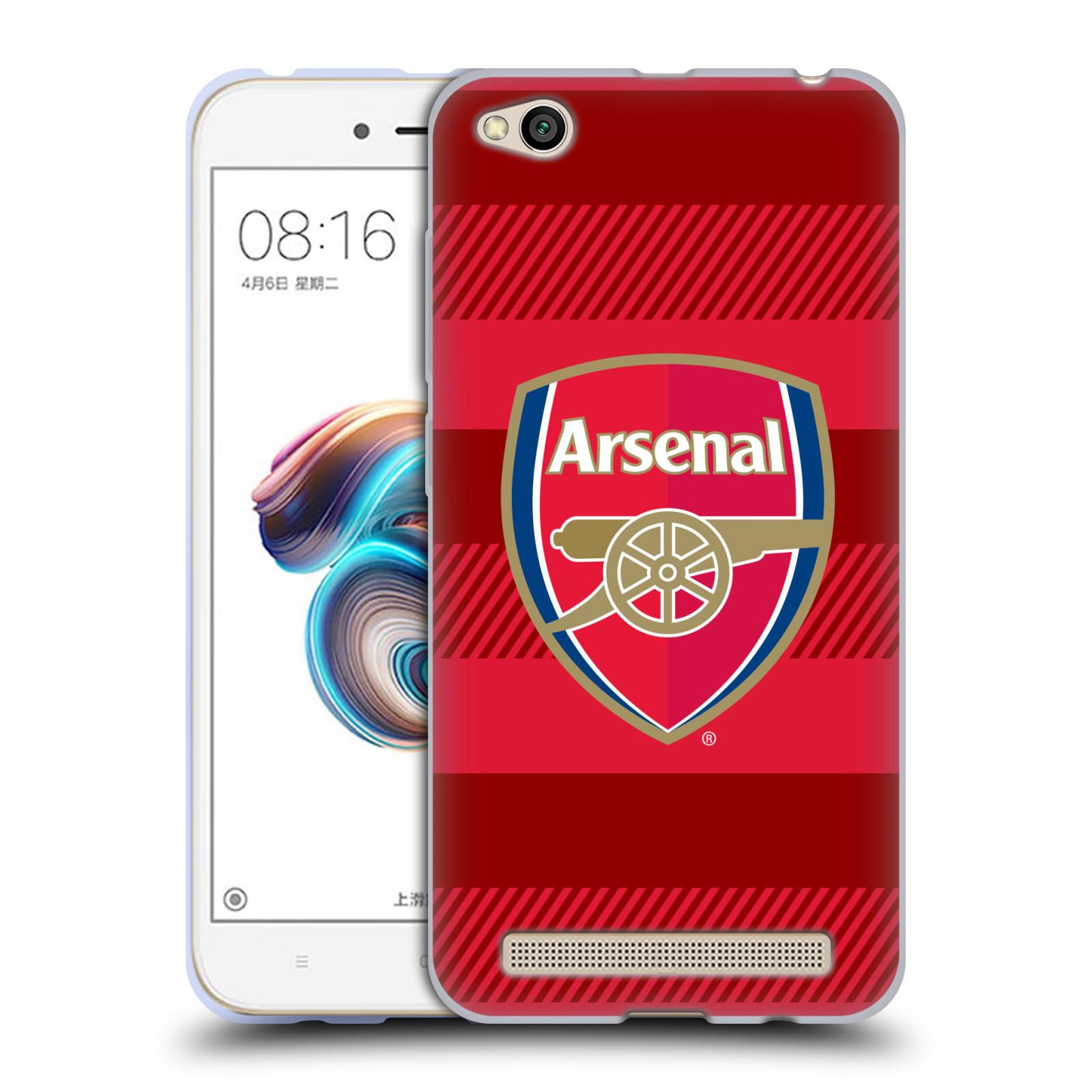 Silikonové pouzdro na mobil Xiaomi Redmi 5A - Head Case - Arsenal FC - Logo s pruhy