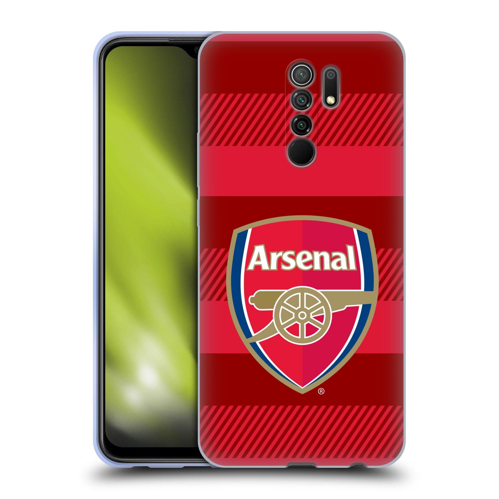 Silikonové pouzdro na mobil Xiaomi Redmi 9 - Head Case - Arsenal FC - Logo s pruhy