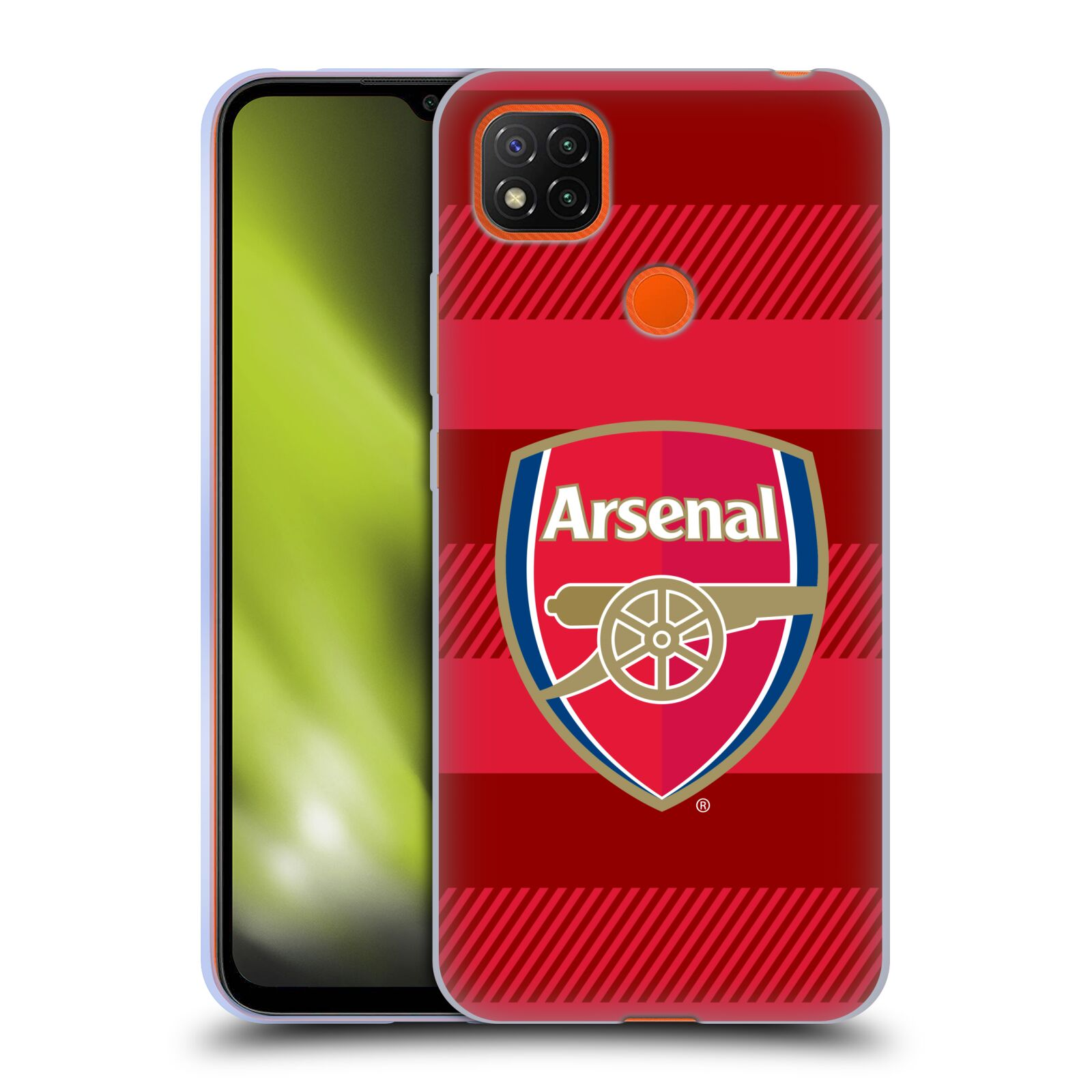Silikonové pouzdro na mobil Xiaomi Redmi 9C - Head Case - Arsenal FC - Logo s pruhy