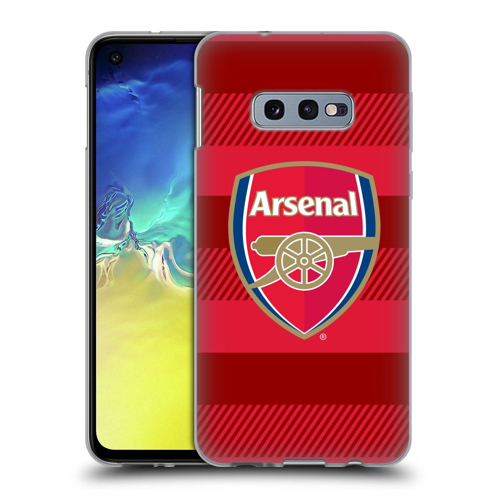 Silikonové pouzdro na mobil Samsung Galaxy S10e - Head Case - Arsenal FC - Logo s pruhy