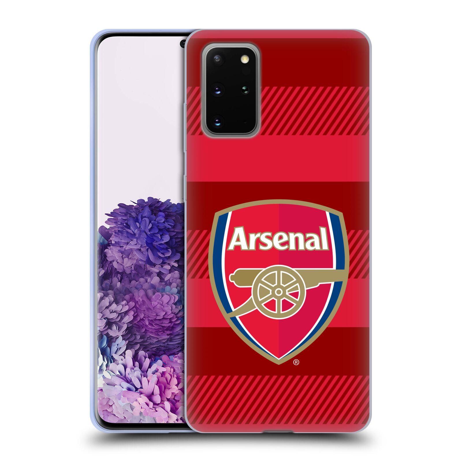 Silikonové pouzdro na mobil Samsung Galaxy S20 Plus - Head Case - Arsenal FC - Logo s pruhy