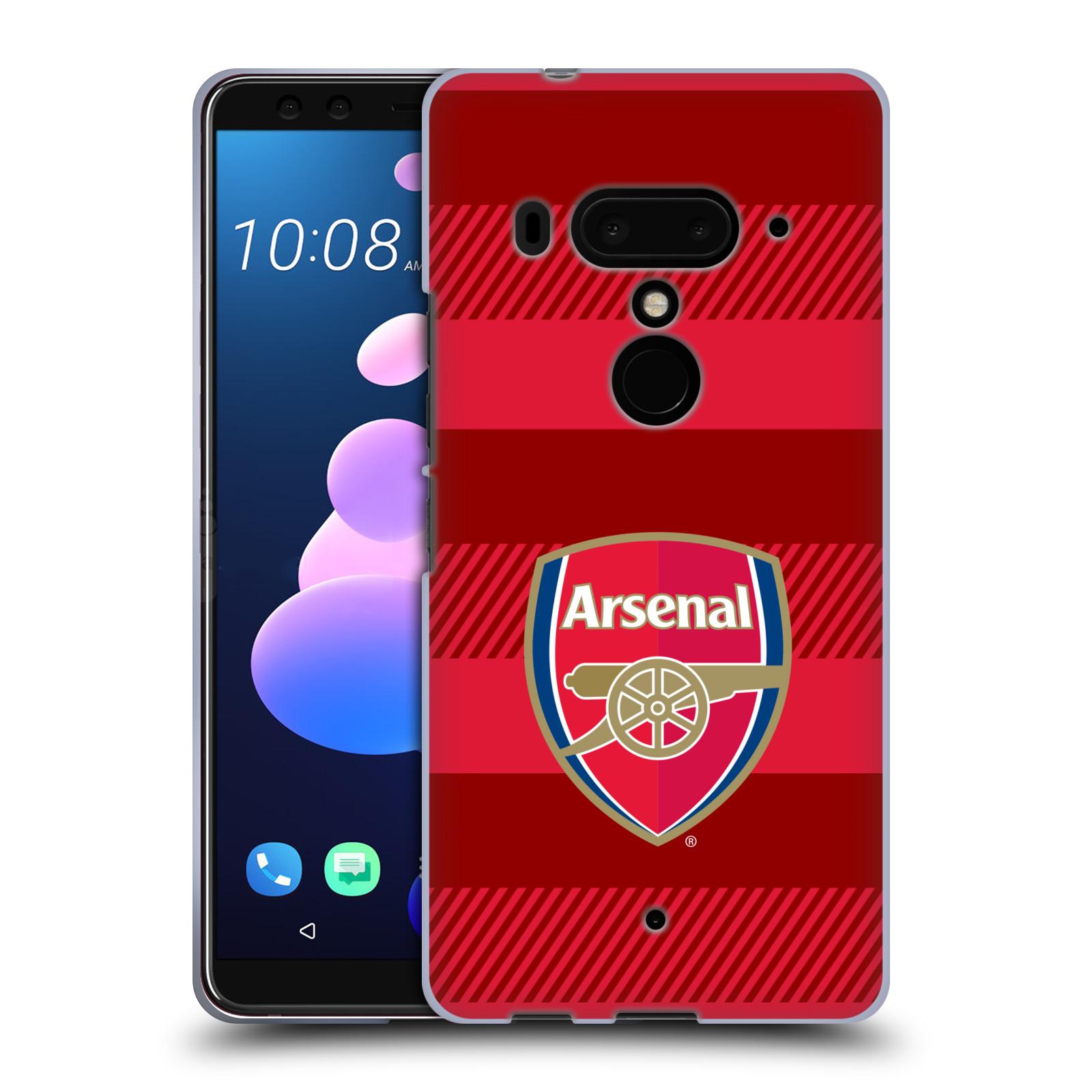 Silikonové pouzdro na mobil HTC U12 Plus - Head Case - Arsenal FC - Logo s pruhy