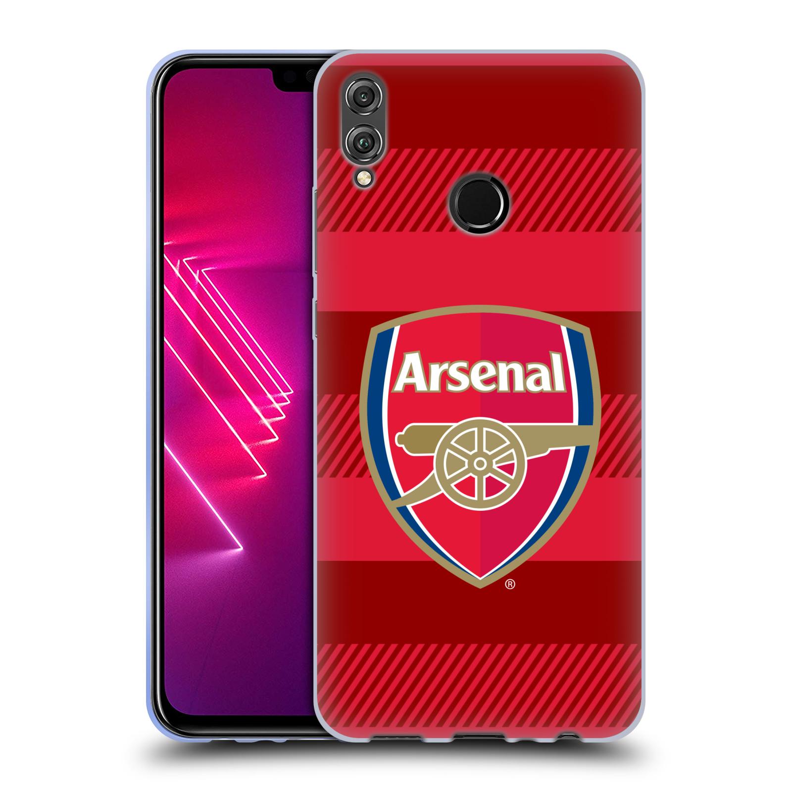 Silikonové pouzdro na mobil Honor View 10 Lite - Head Case - Arsenal FC - Logo s pruhy