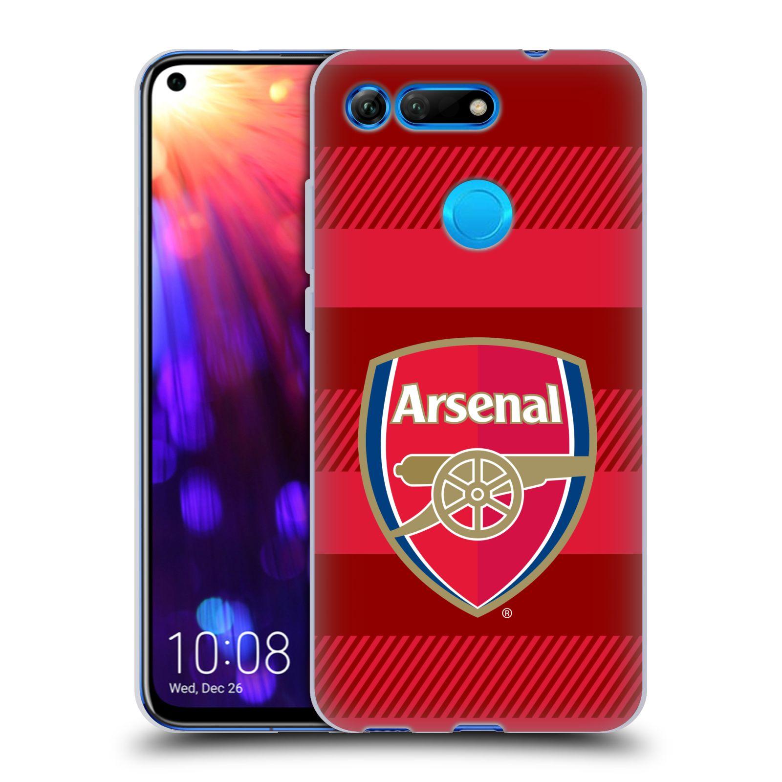 Silikonové pouzdro na mobil Honor View 20 - Head Case - Arsenal FC - Logo s pruhy