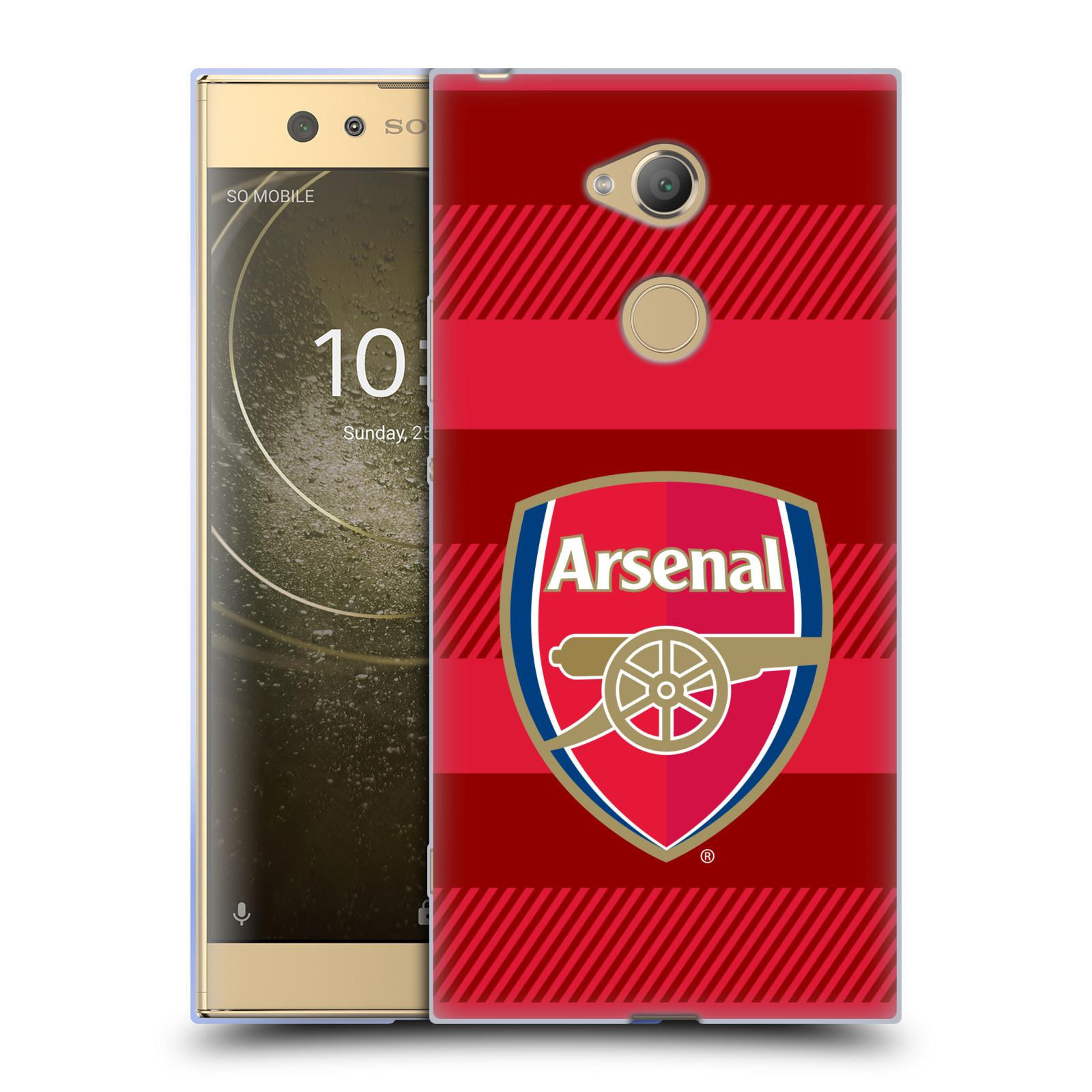 Silikonové pouzdro na mobil Sony Xperia XA2 Ultra - Head Case - Arsenal FC - Logo s pruhy