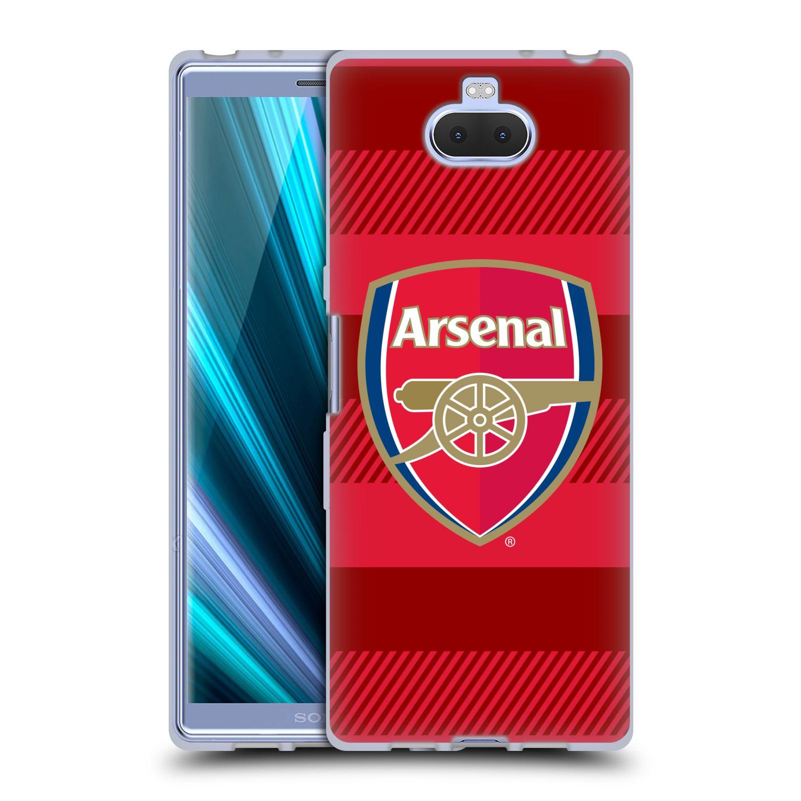 Silikonové pouzdro na mobil Sony Xperia 10 - Head Case - Arsenal FC - Logo s pruhy
