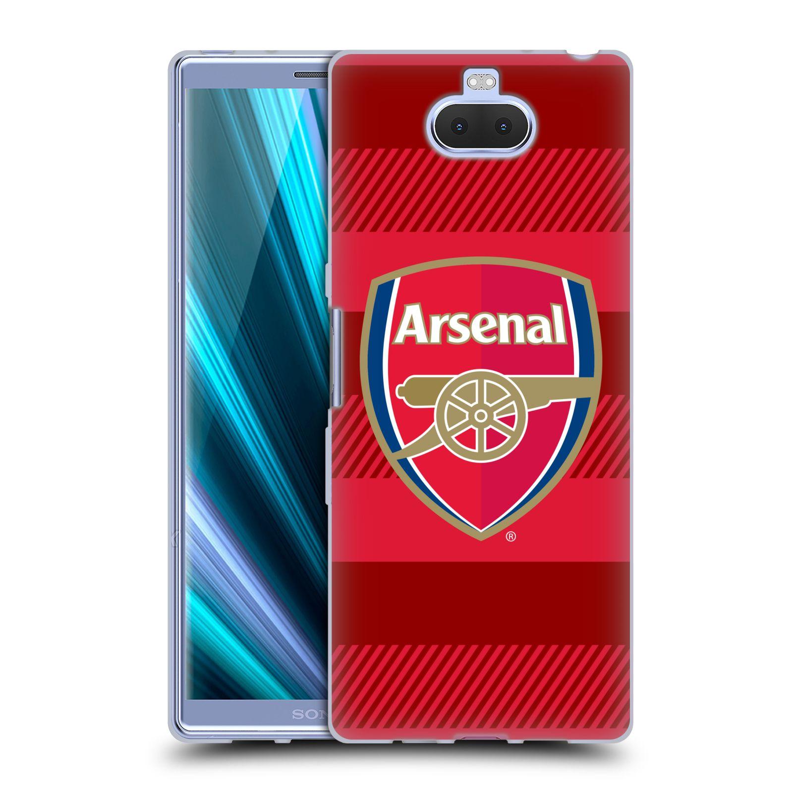 Silikonové pouzdro na mobil Sony Xperia 10 Plus - Head Case - Arsenal FC - Logo s pruhy