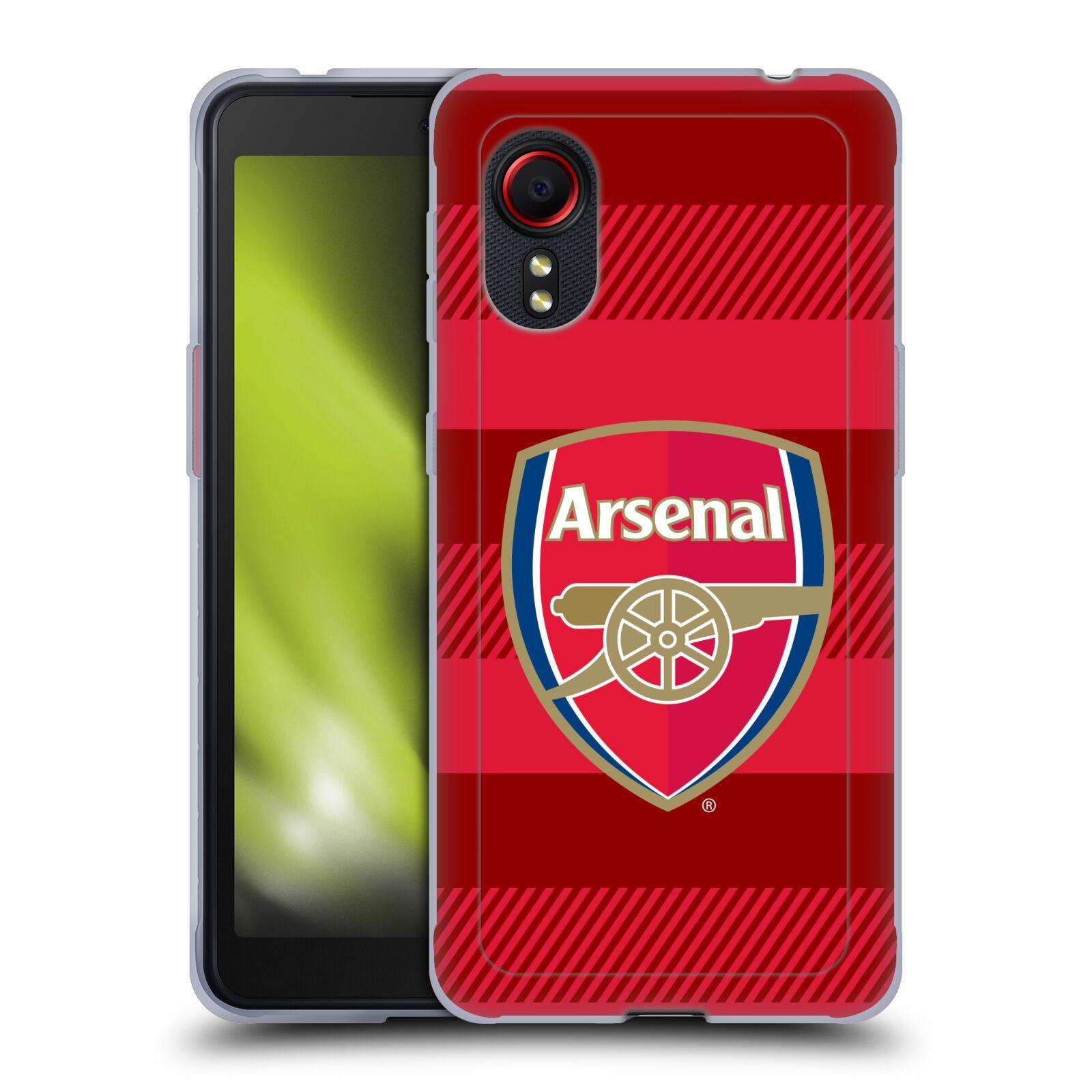 Silikonové pouzdro na mobil Samsung Galaxy Xcover 5 - Head Case - Arsenal FC - Logo s pruhy