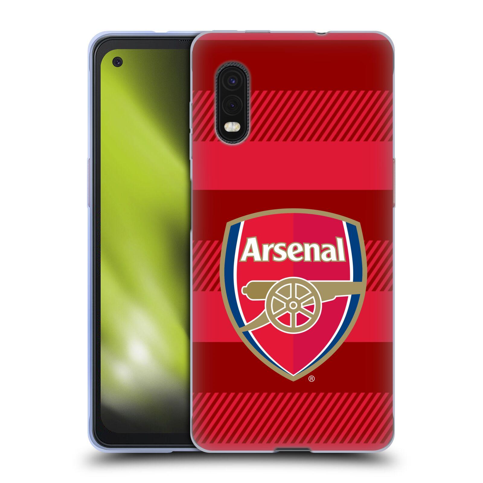 Silikonové pouzdro na mobil Samsung Galaxy Xcover Pro - Head Case - Arsenal FC - Logo s pruhy