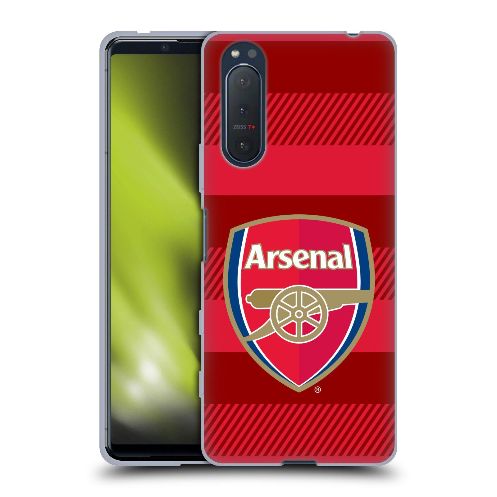 Silikonové pouzdro na mobil Sony Xperia 5 II - Head Case - Arsenal FC - Logo s pruhy