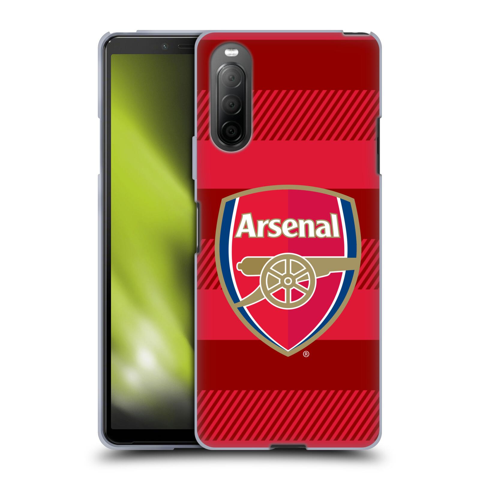 Silikonové pouzdro na mobil Sony Xperia 10 II - Head Case - Arsenal FC - Logo s pruhy