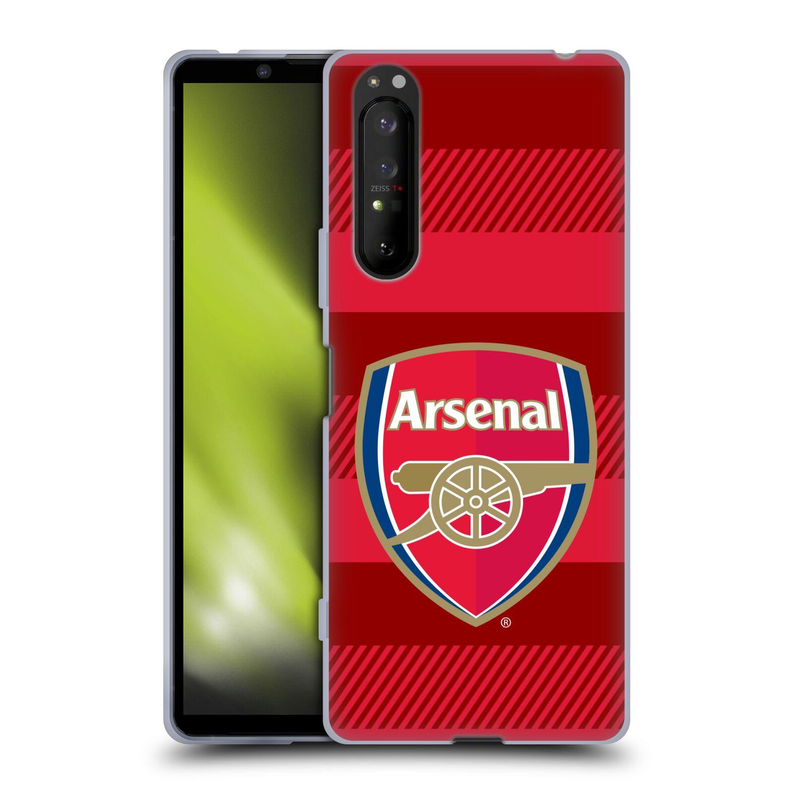 Silikonové pouzdro na mobil Sony Xperia 1 II - Head Case - Arsenal FC - Logo s pruhy