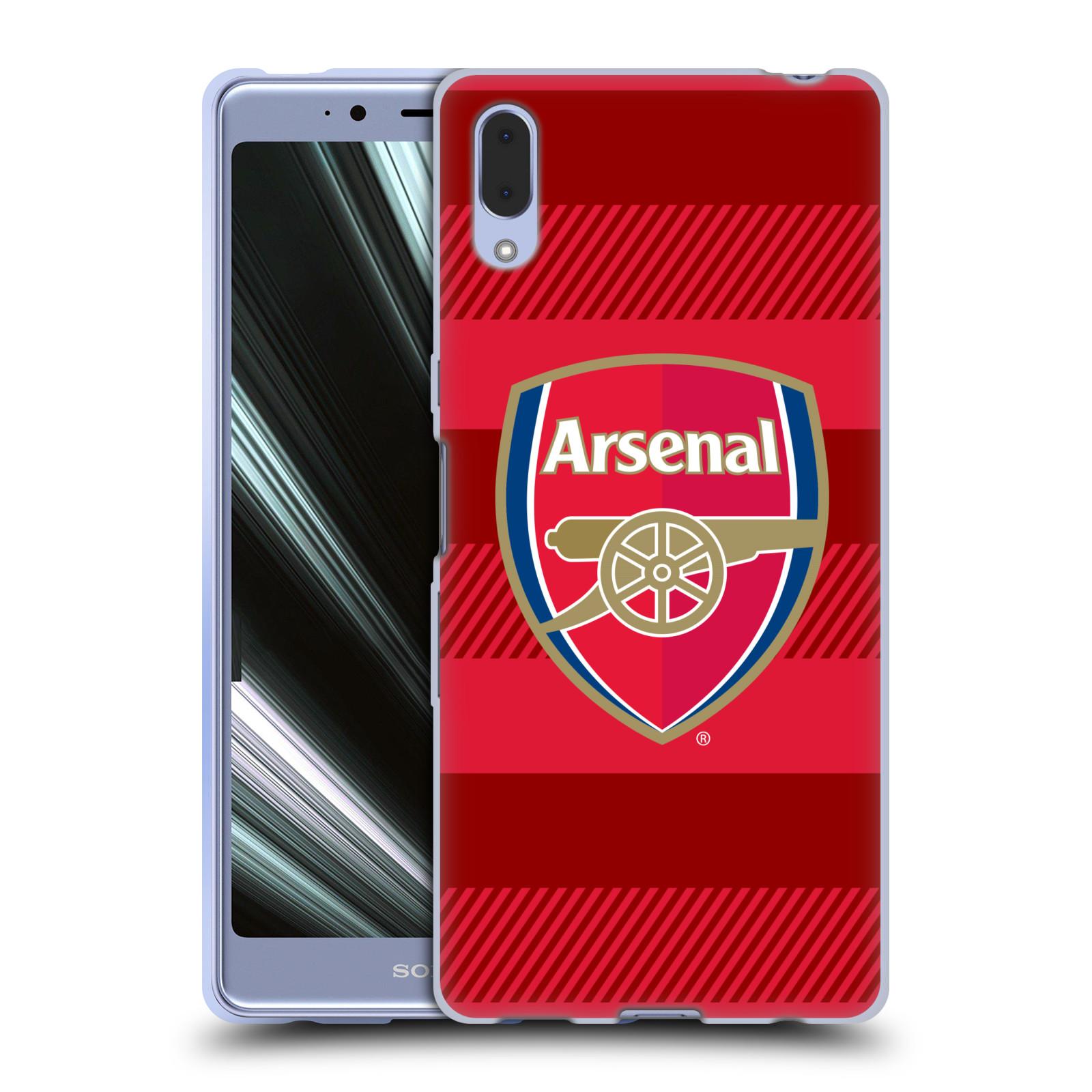 Silikonové pouzdro na mobil Sony Xperia L3 - Head Case - Arsenal FC - Logo s pruhy
