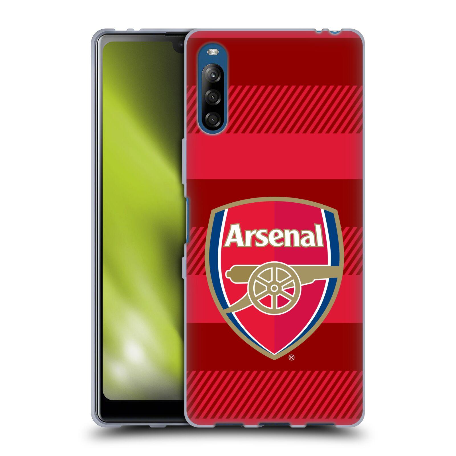 Silikonové pouzdro na mobil Sony Xperia L4 - Head Case - Arsenal FC - Logo s pruhy