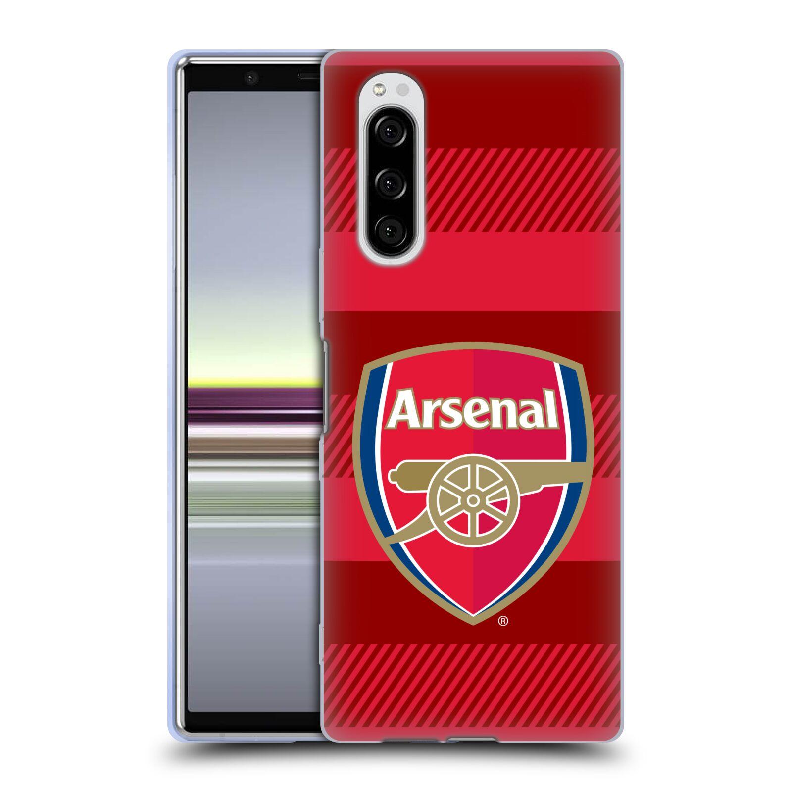 Silikonové pouzdro na mobil Sony Xperia 5 - Head Case - Arsenal FC - Logo s pruhy