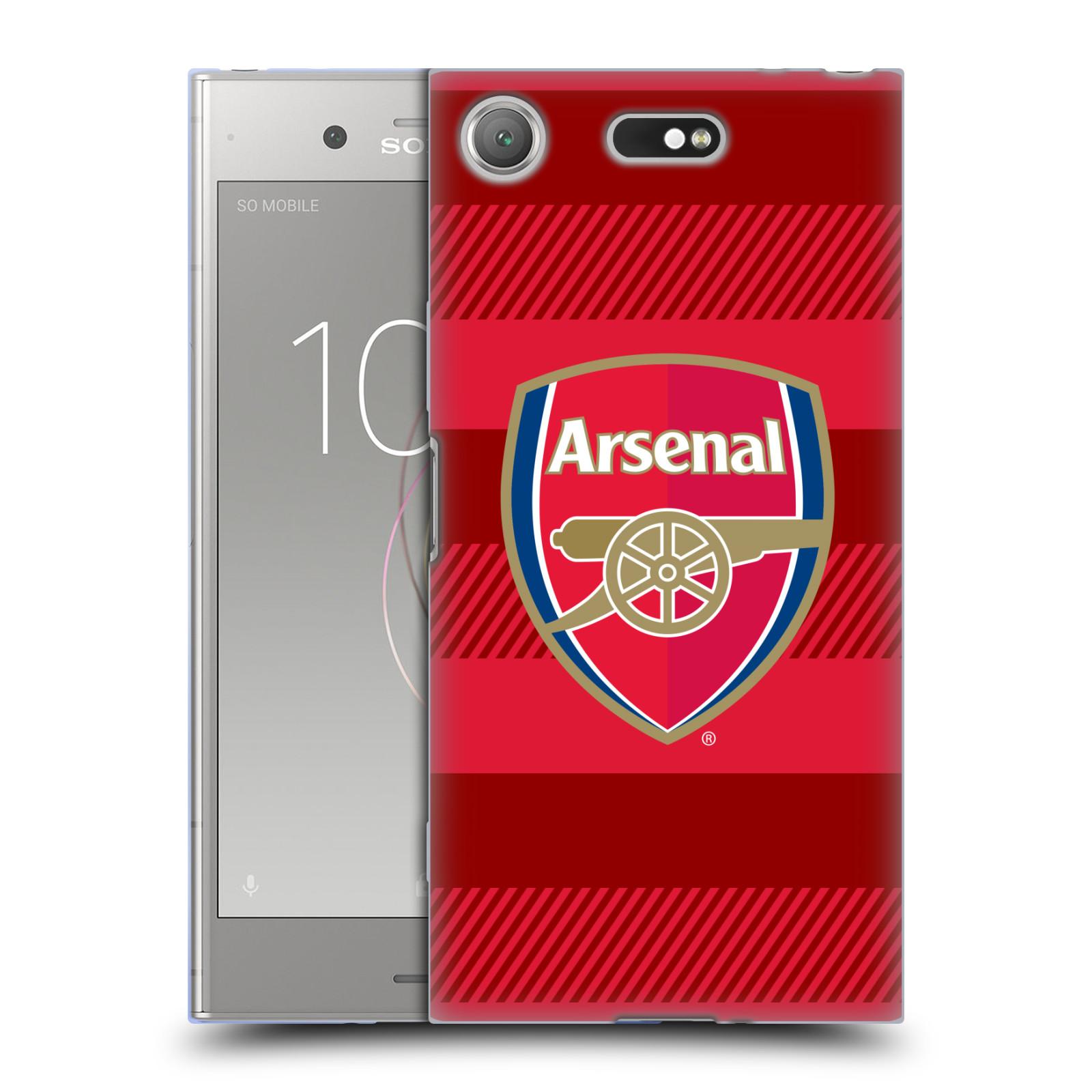 Silikonové pouzdro na mobil Sony Xperia XZ1 Compact - Head Case - Arsenal FC - Logo s pruhy