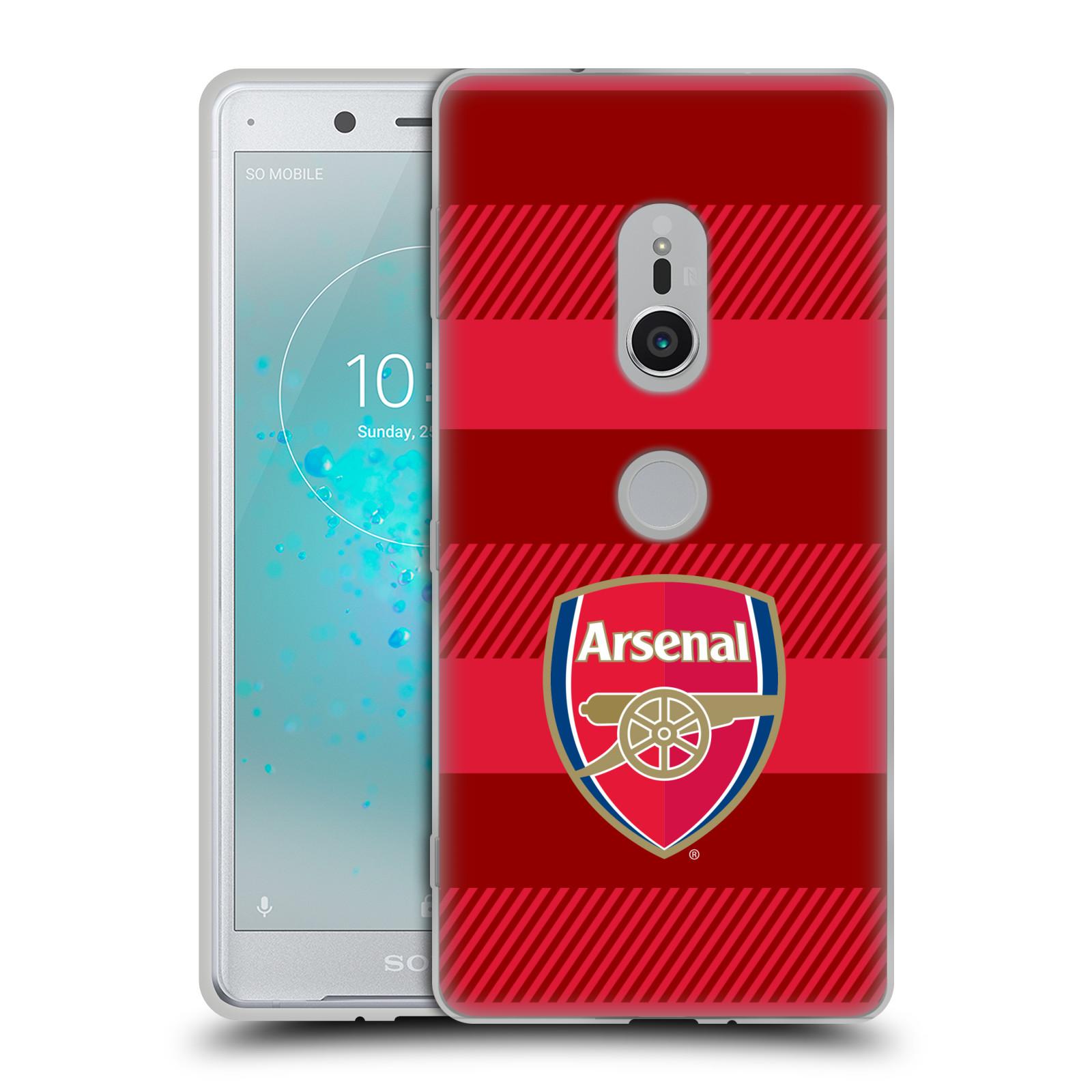 Silikonové pouzdro na mobil Sony Xperia XZ2 - Head Case - Arsenal FC - Logo s pruhy
