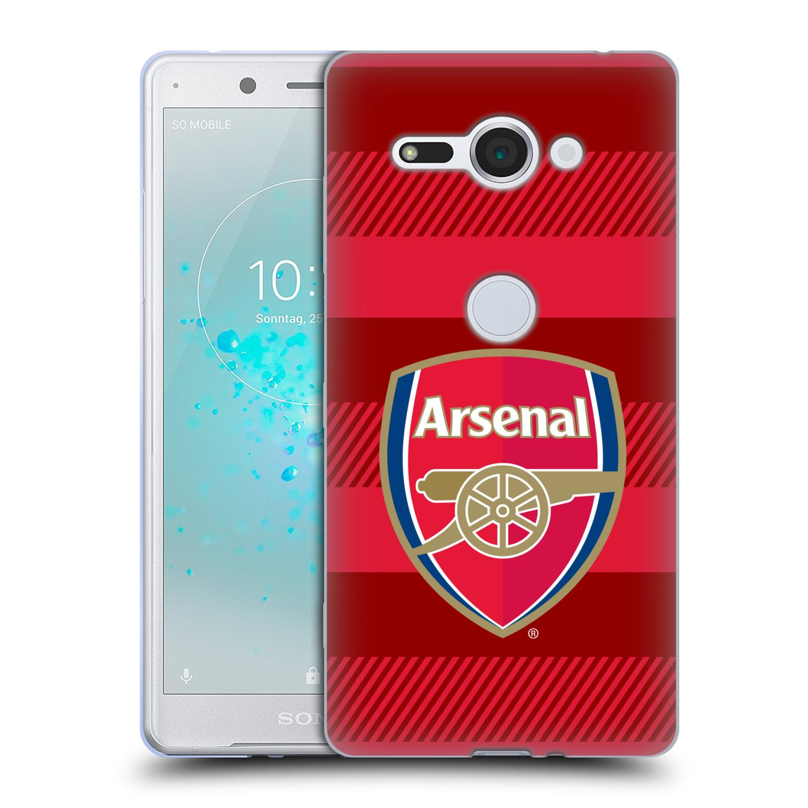 Silikonové pouzdro na mobil Sony Xperia XZ2 Compact - Head Case - Arsenal FC - Logo s pruhy