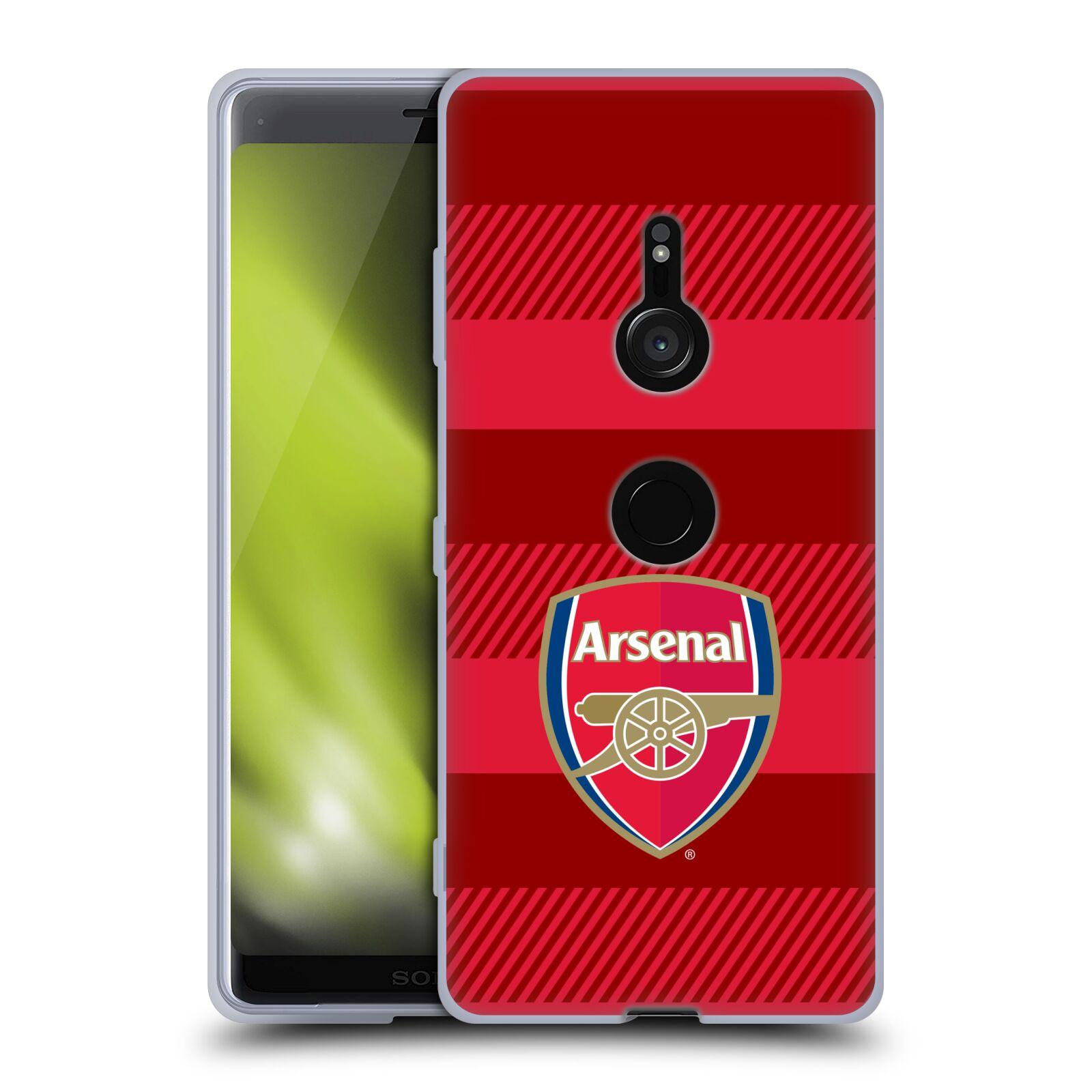 Silikonové pouzdro na mobil Sony Xperia XZ3 - Head Case - Arsenal FC - Logo s pruhy