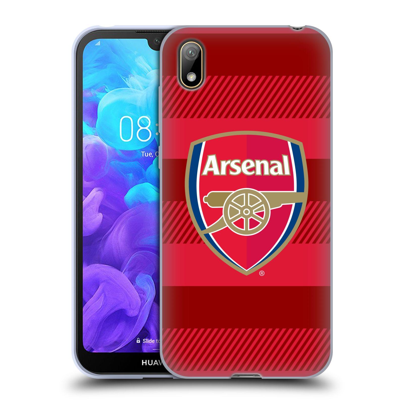 Silikonové pouzdro na mobil Huawei Y5 (2019) - Head Case - Arsenal FC - Logo s pruhy