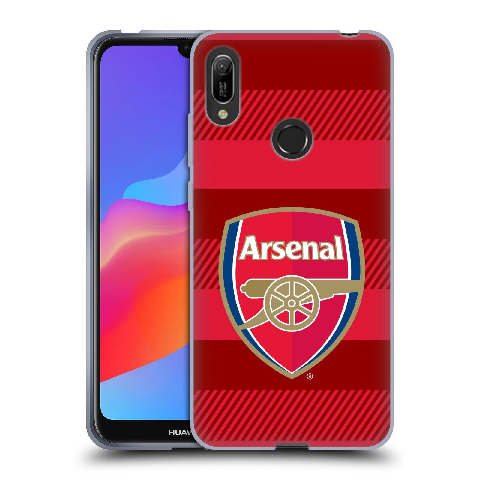 Silikonové pouzdro na mobil Huawei Y6 (2019) - Head Case - Arsenal FC - Logo s pruhy