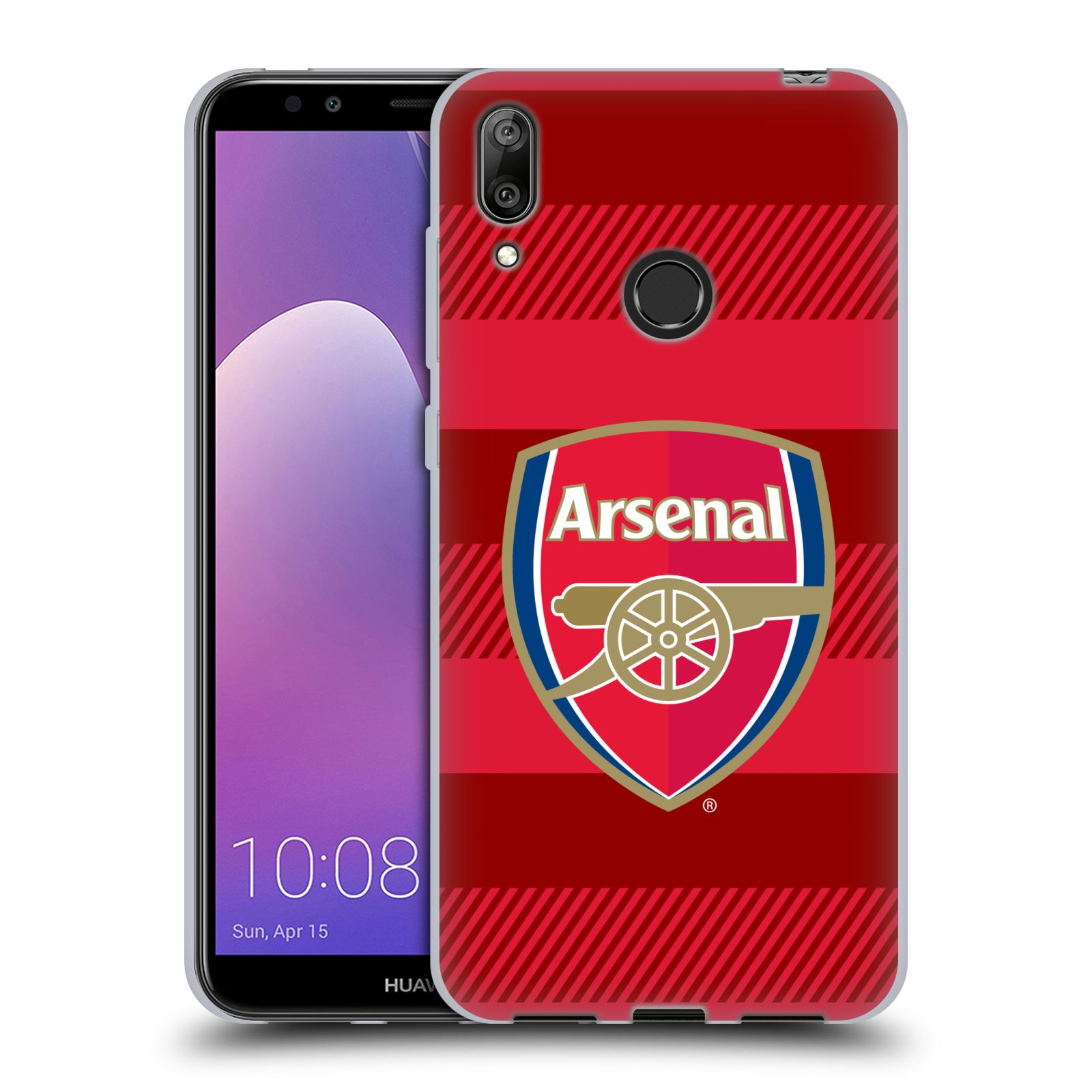 Silikonové pouzdro na mobil Huawei Y7 (2019) - Head Case - Arsenal FC - Logo s pruhy