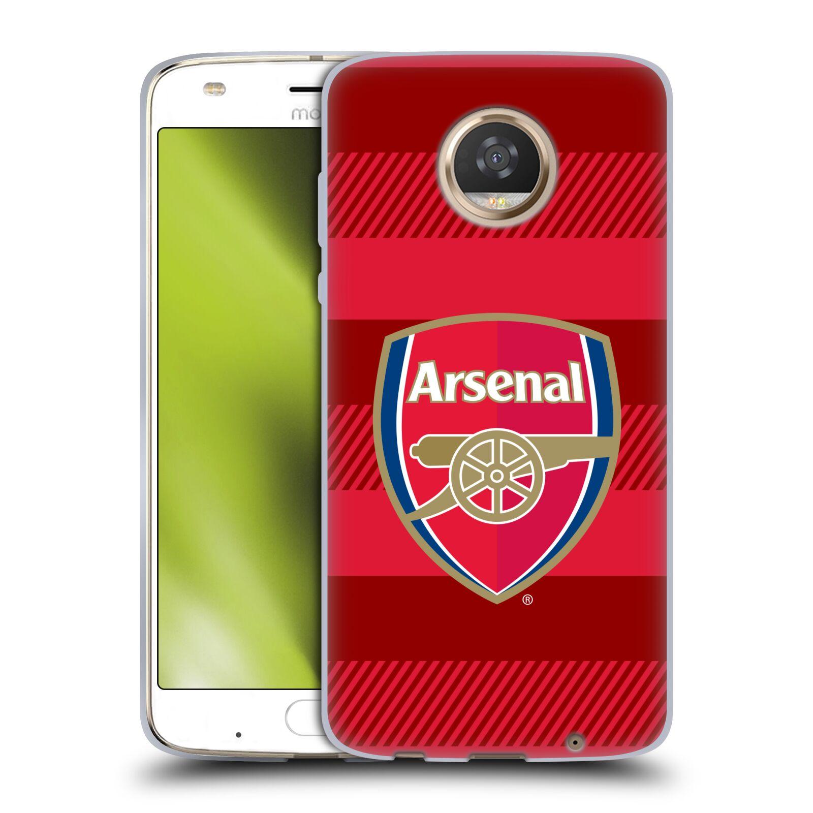 Silikonové pouzdro na mobil Lenovo Moto Z2 Play - Head Case - Arsenal FC - Logo s pruhy