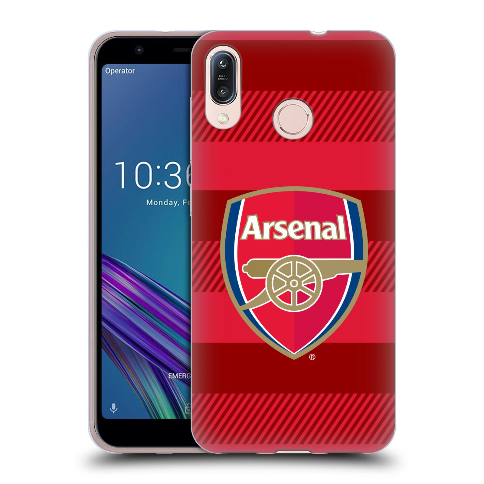 Silikonové pouzdro na mobil Asus Zenfone Max M1 ZB555KL - Head Case - Arsenal FC - Logo s pruhy
